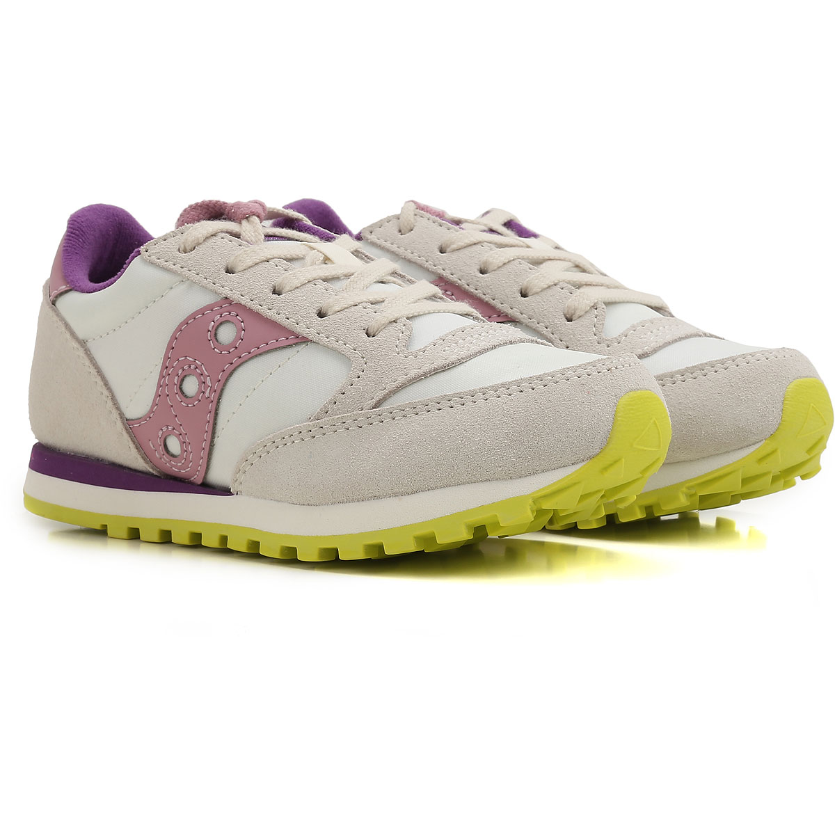 Image of Saucony Kids Shoes for Girls On Sale in Outlet, White, Fabric, 2017, UK 10.5 - EUR 28 Toddler 13 - Ita 31 UK 13.5 - EUR 32 Child 2.5 - Ita 34