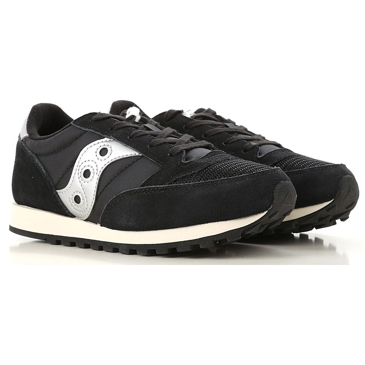 Image of Saucony Kids Shoes for Girls, Black, Suede leather, 2017, Toddler 10.5 - Ita 27 UK 10.5 - EUR 28 Toddler 12 - Ita 29 Toddler 13 - Ita 31 UK 12 - EUR 30 UK 13.5 - EUR 32 Child 2 - Ita 33.5 Child 3 - Ita 35