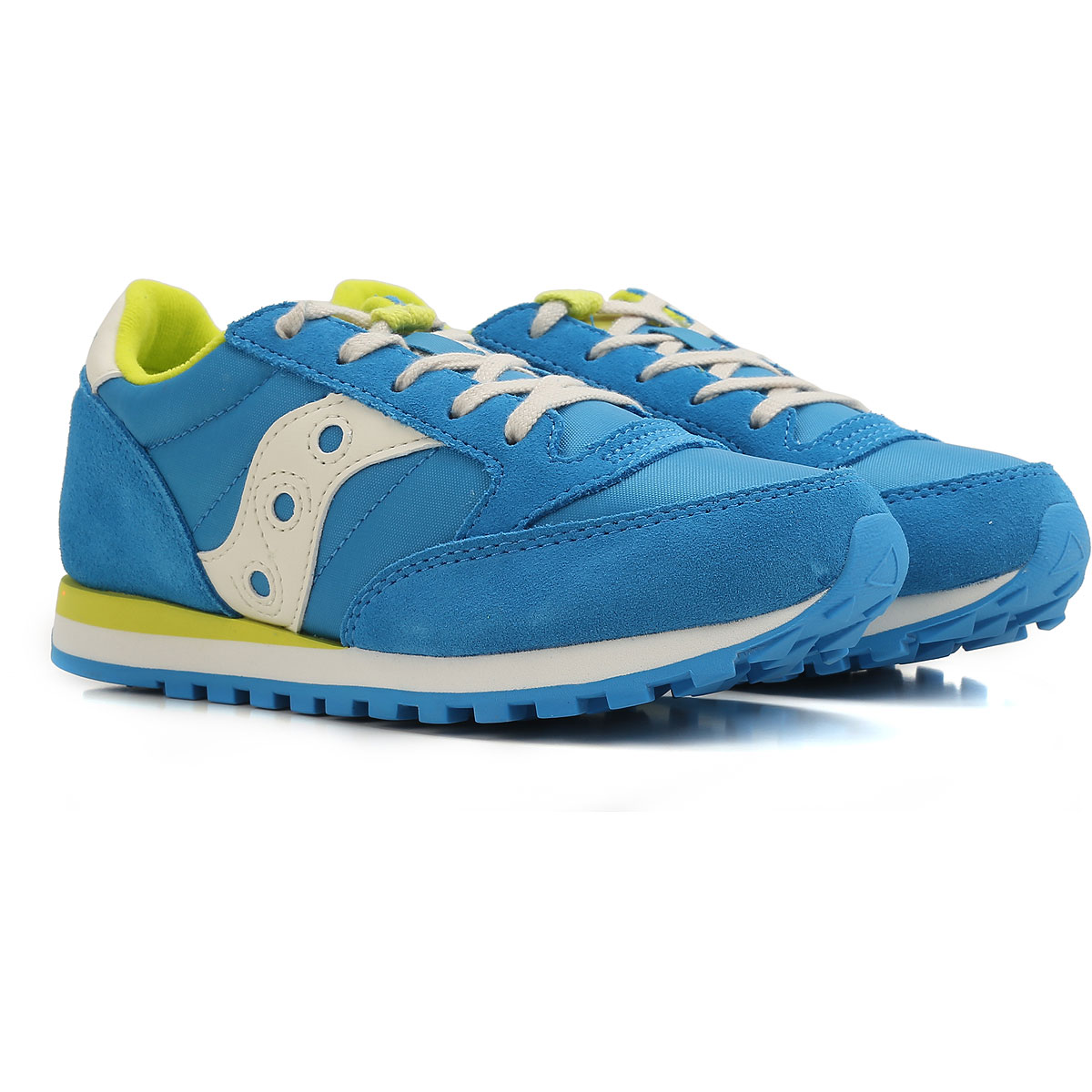 Image of Saucony Kids Shoes for Boys On Sale in Outlet, Sky Blue, Fabric, 2017, Toddler 10.5 - Ita 27 UK 13.5 - EUR 32 Child 1.5 - Ita 33