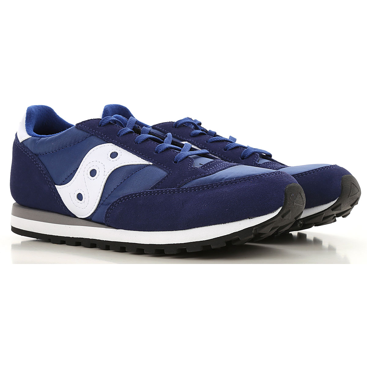 Image of Saucony Kids Shoes for Boys, Blue, Suede leather, 2017, UK 3 - EUR 35.5 UK 3.5 - EUR 36 UK 4 - EUR 36.5 UK 4.5 - EUR 37.5 UK 5 - EUR 38
