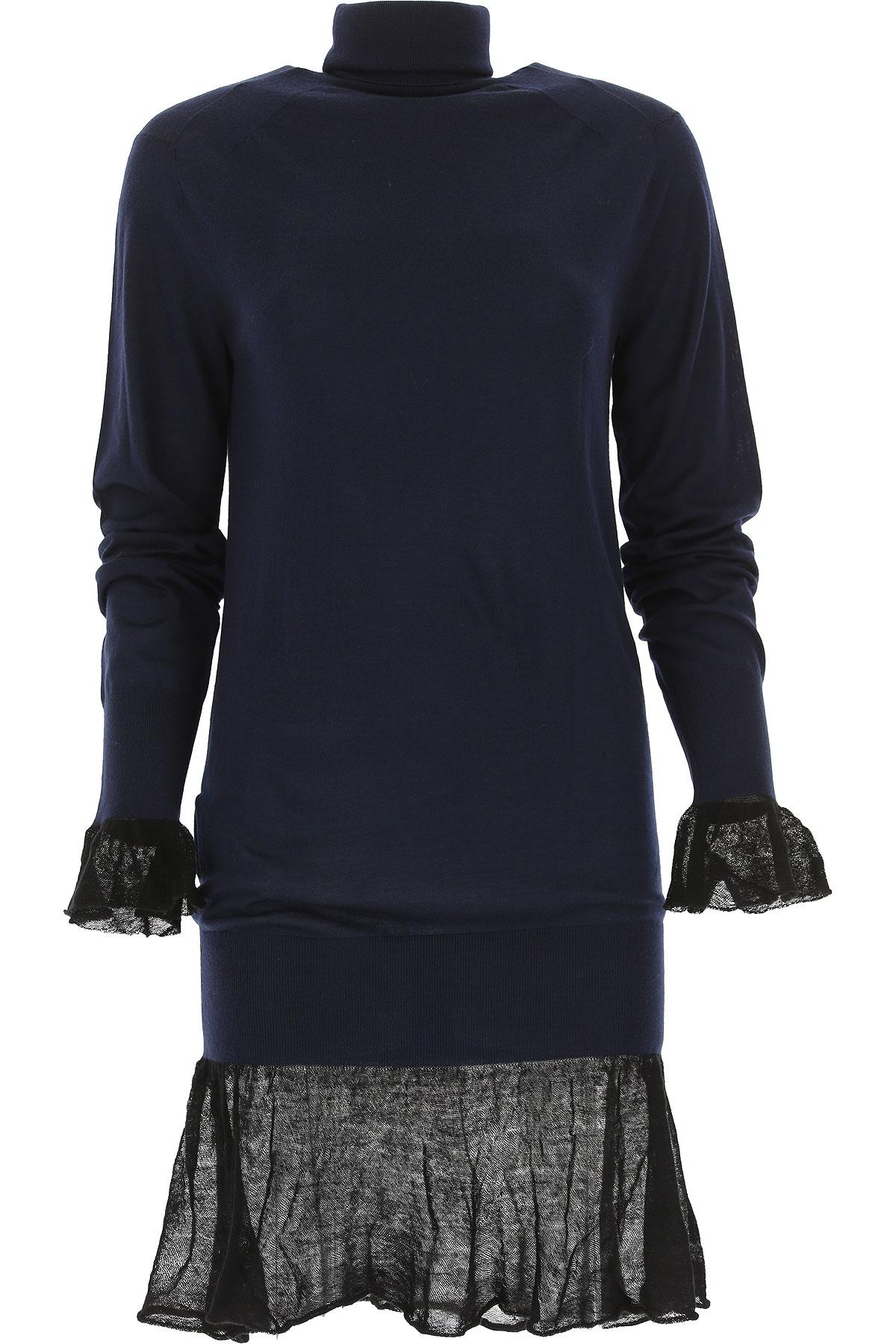 Image of Sacai Dress for Women, Evening Cocktail Party, Blue Navy, Wool, 2017, US 0 - UK 4 - EU 34 - IT 38 US 2 - UK 6 - EU 36 - IT 40 US 4 - UK 8 - EU 38 - IT 42