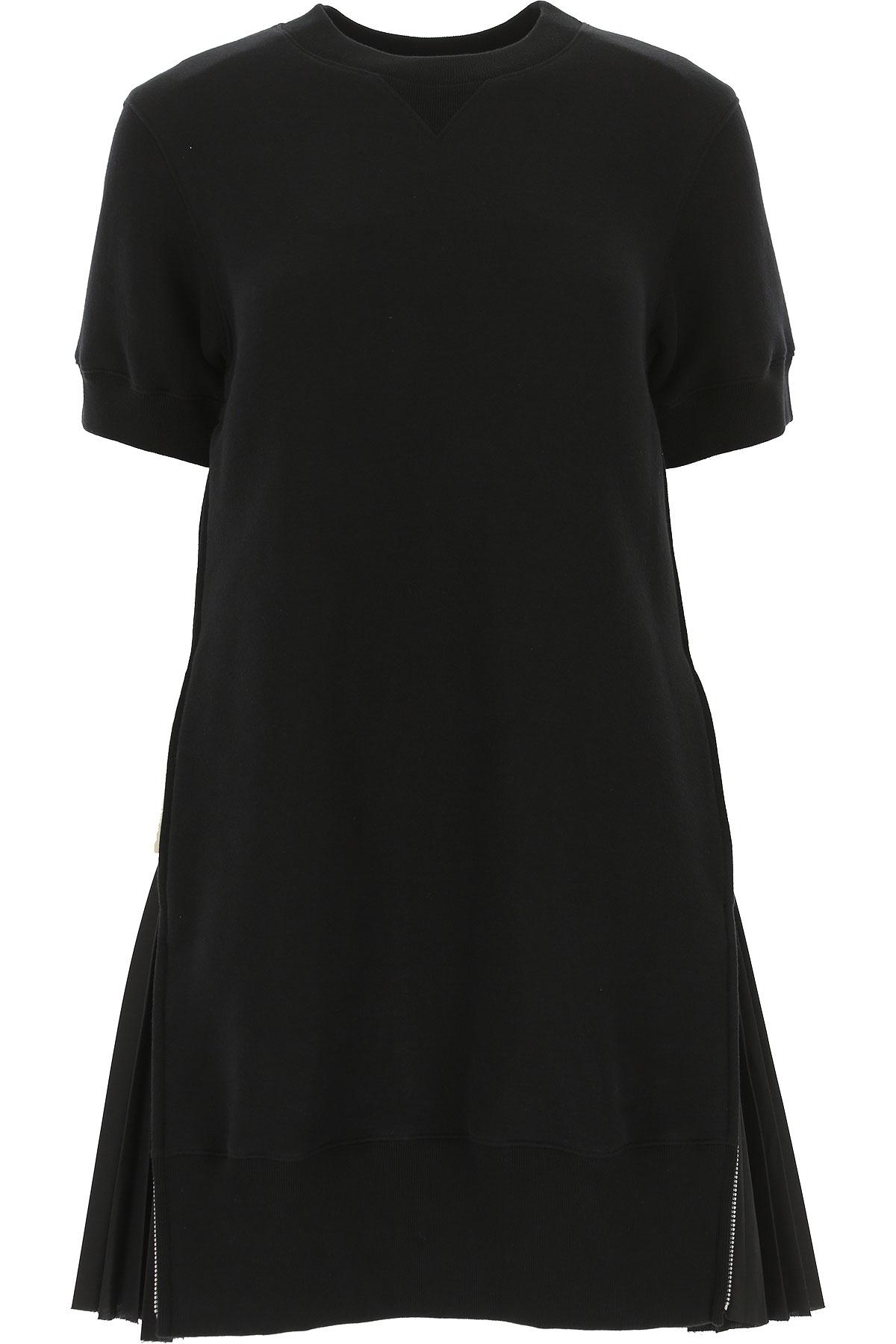 Image of Sacai Dress for Women, Evening Cocktail Party, Black, Cotton, 2017, US 2 - UK 6 - EU 36 - IT 40 US 4 - UK 8 - EU 38 - IT 42