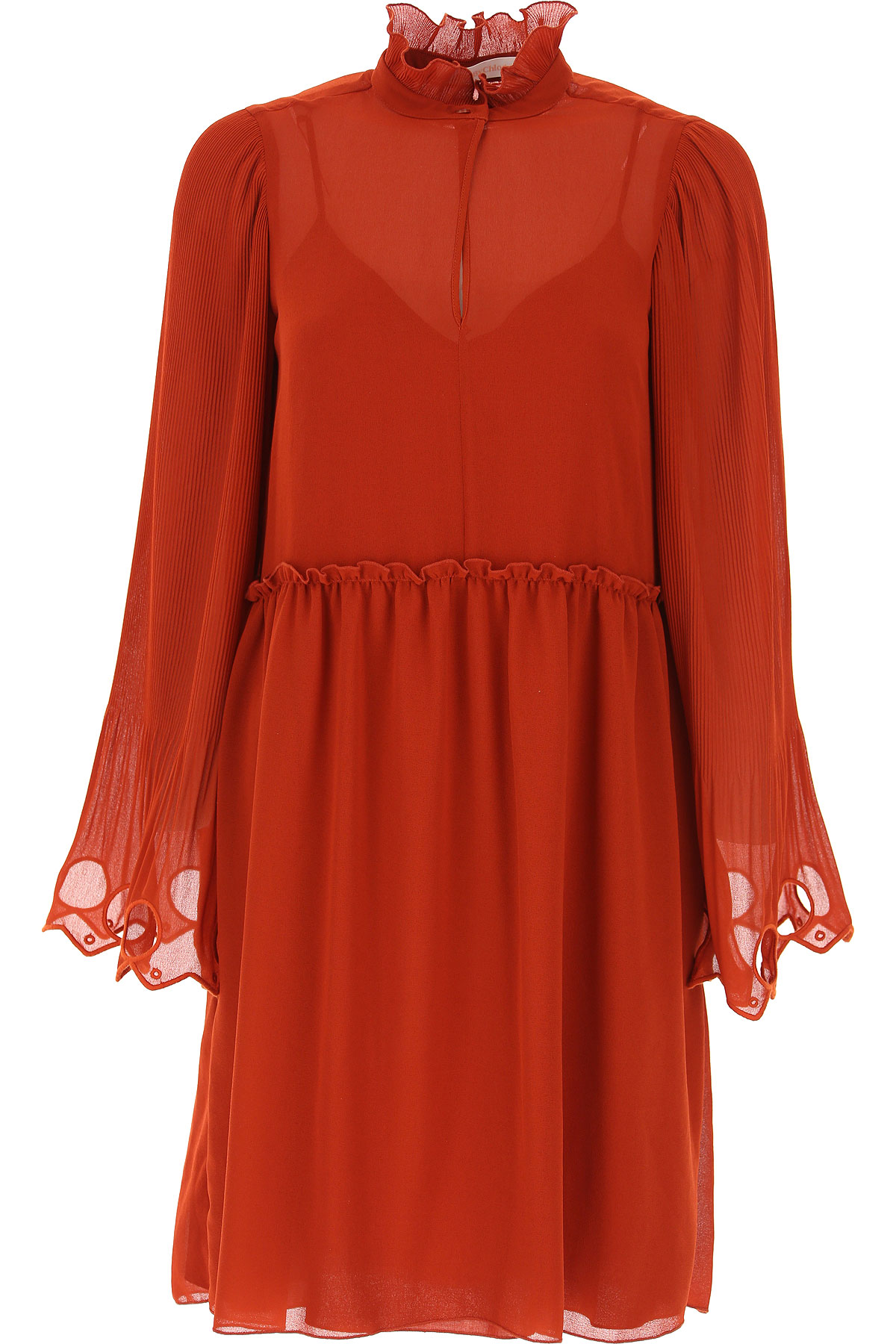 See By Chloe Dress for Women, Evening Cocktail Party On Sale, Red, Viscose, 2019, 4 6 8