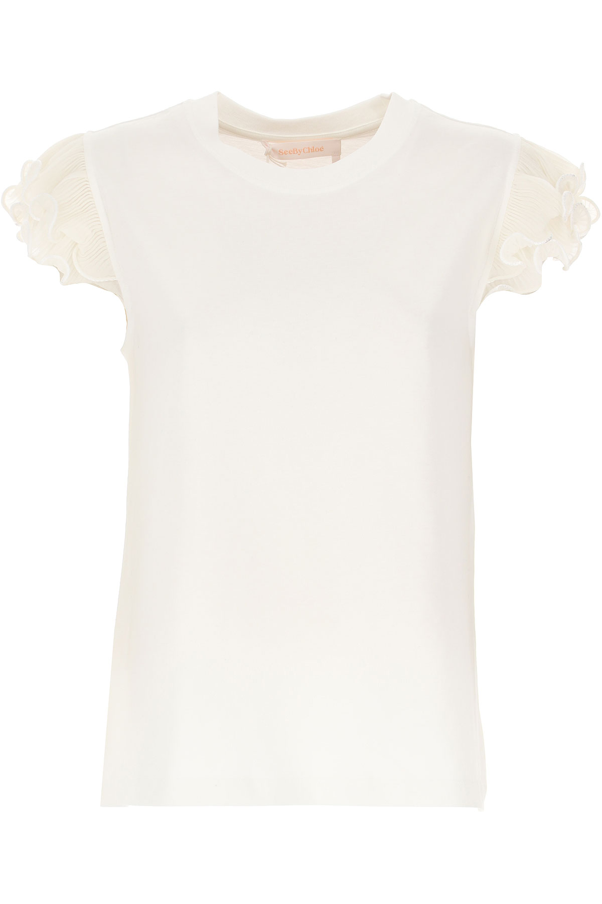 See By Chloe T-Shirt for Women, White, Cotton, 2019, 2 4 6 8