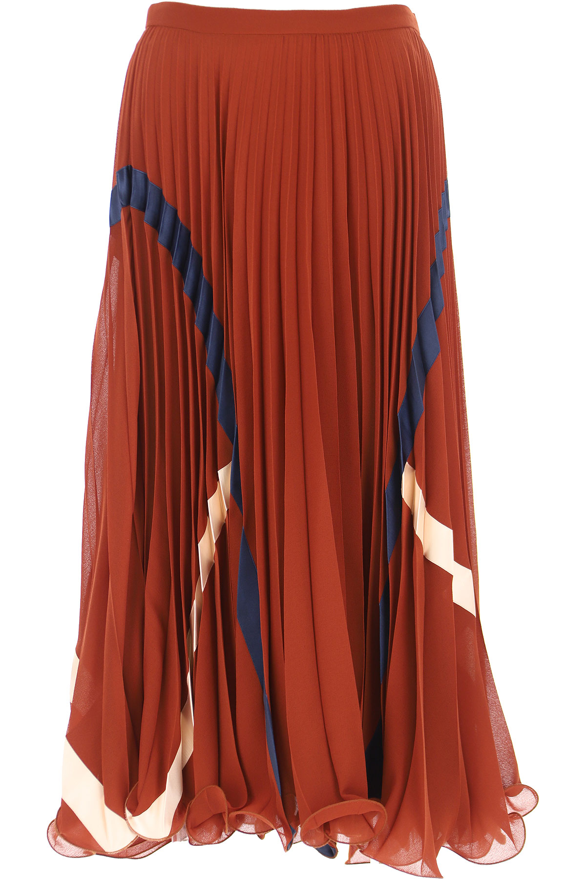 See By Chloe Skirt for Women, Brown, polyester, 2019, 24 26