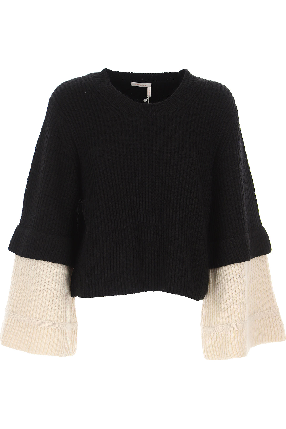 See By Chloe Sweater for Women Jumper, Black, Wool, 2019, 6 8
