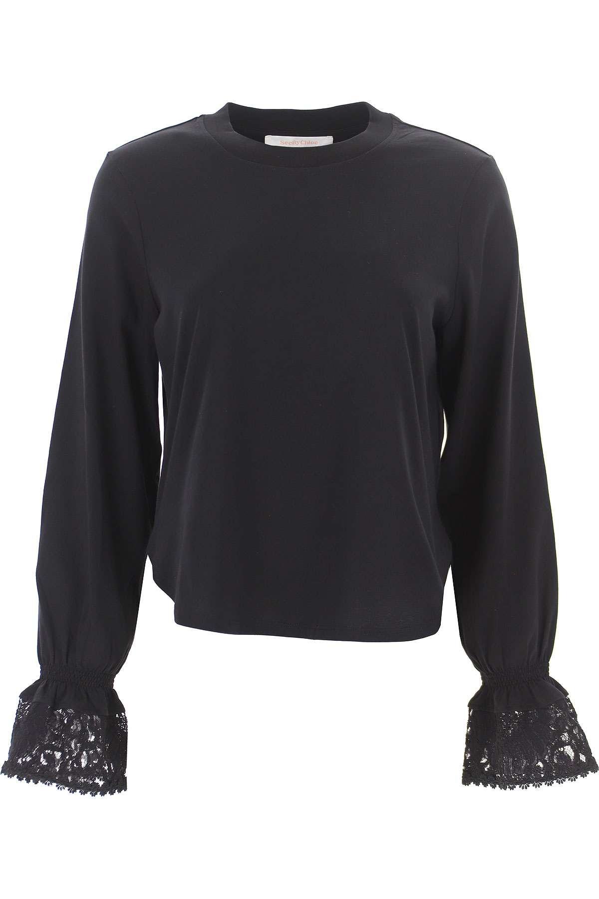 See By Chloe T-Shirt for Women On Sale, Black, Cotton, 2019, 2 4 6
