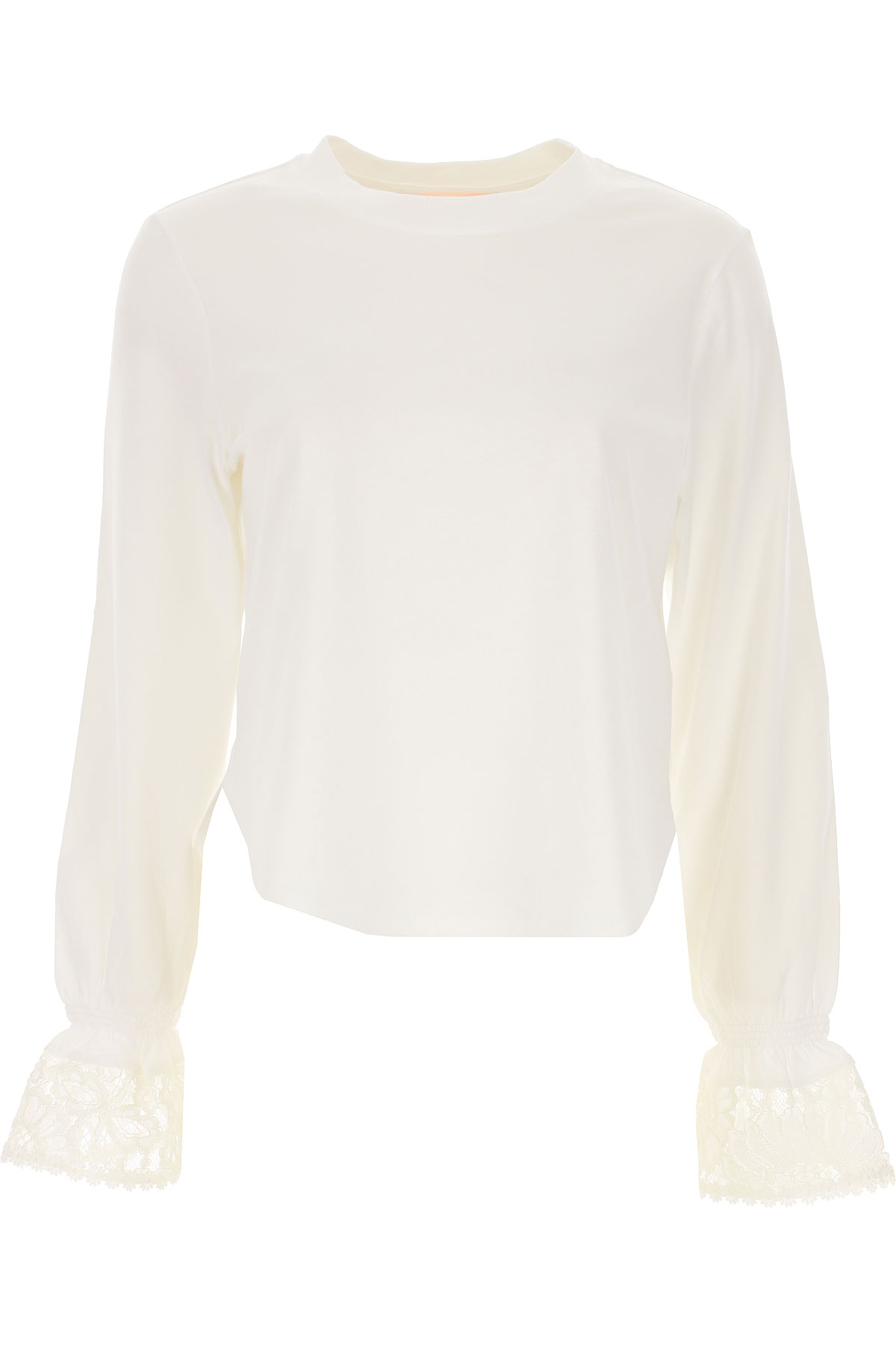 See By Chloe Top for Women On Sale, White, Cotton, 2019, 4 6