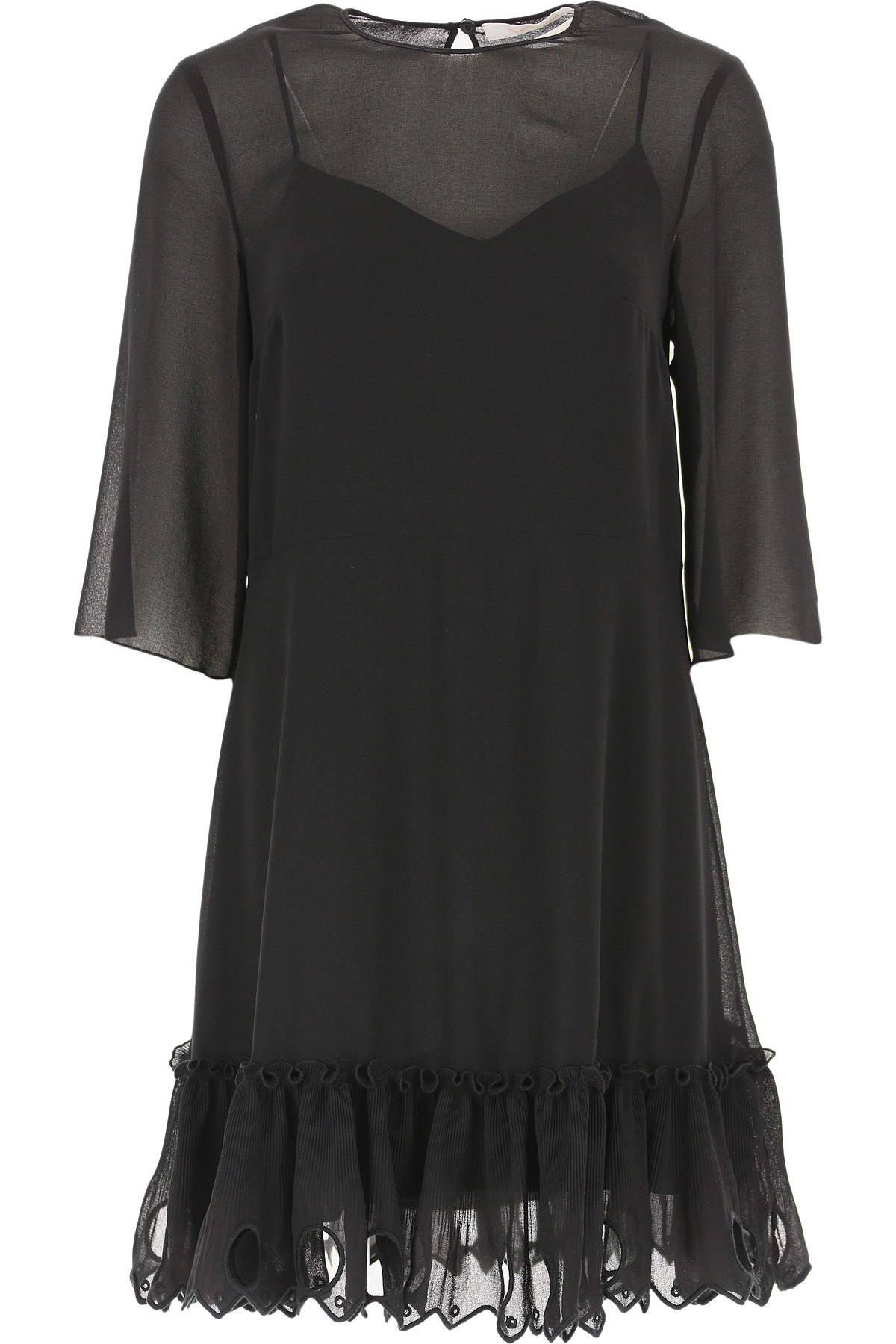 See By Chloe Dress for Women, Evening Cocktail Party On Sale, Black, polyestere, 2019, 4 6 8