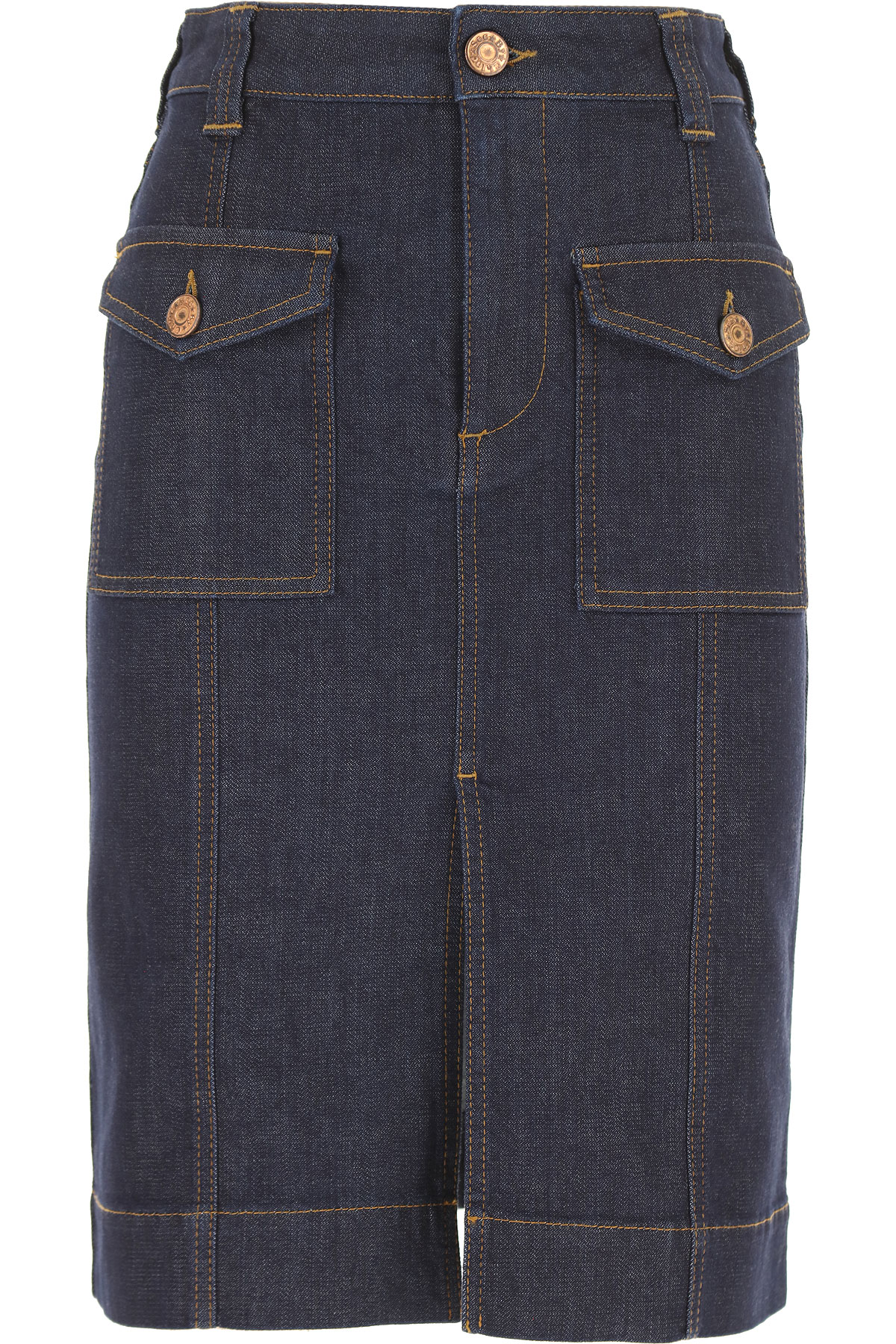 See By Chloe Skirt for Women On Sale, Denim, Cotton, 2019, 34