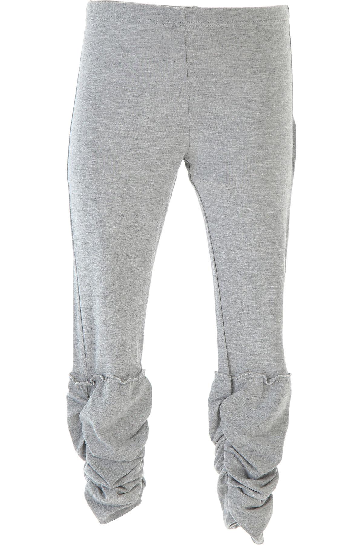 Ermanno Scervino Kids Pants for Girls On Sale in Outlet, Grey, Viscose, 2019, 5Y 6Y