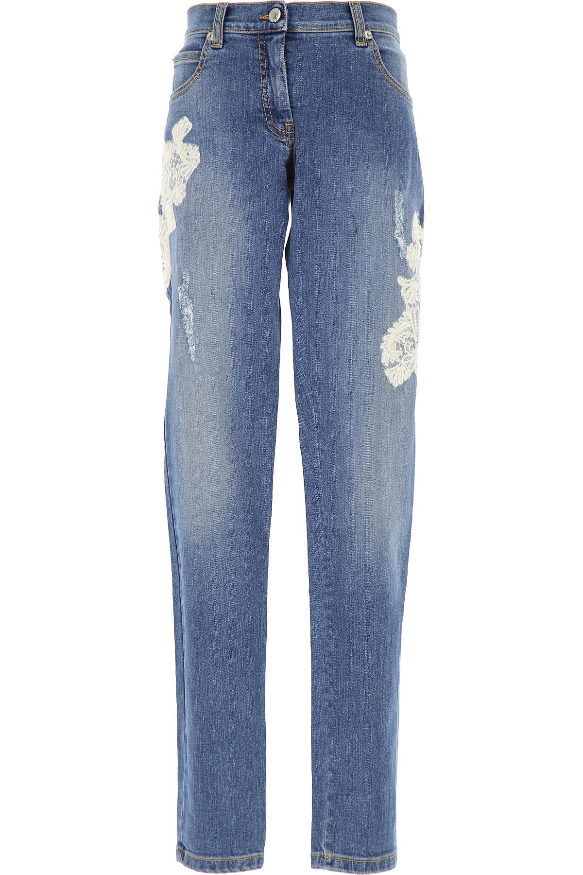 Ermanno Scervino Kids Jeans for Girls On Sale, Denim Blue, Cotton, 2019, 10Y 12Y 14Y 8Y