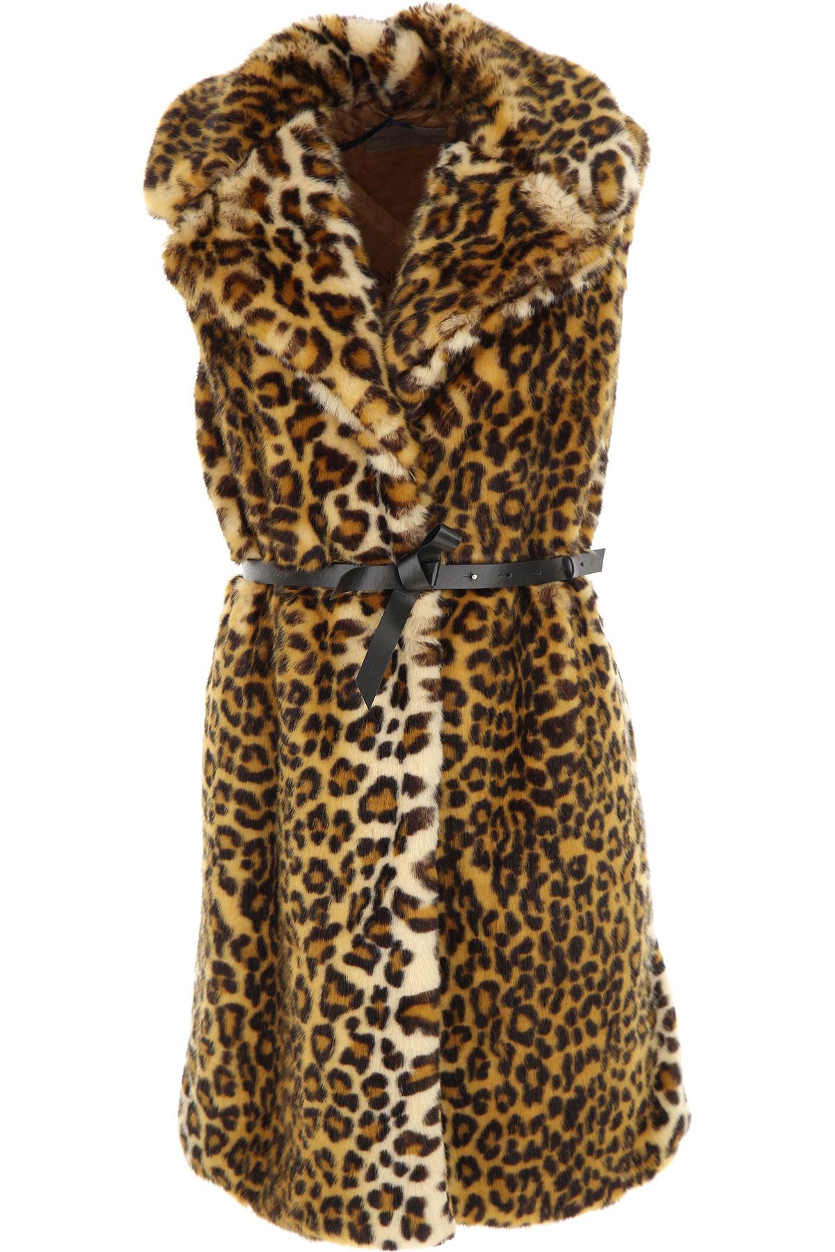 Ermanno Scervino {DESIGNER} Kids Coat for Girls On Sale, Leopard, modacrylic, 2019, 14Y 16Y