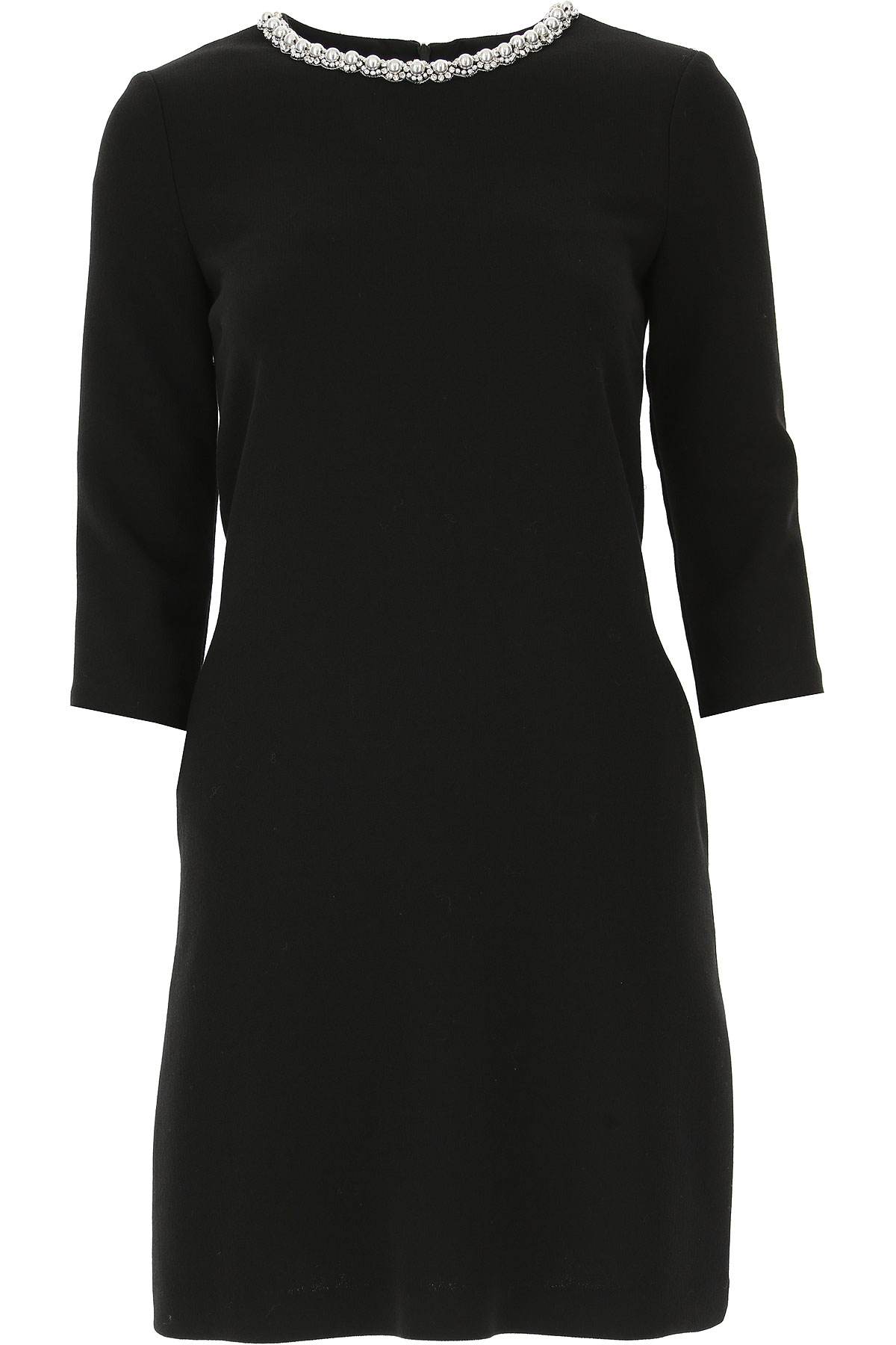 Image of Ermanno Scervino Dress for Women, Evening Cocktail Party, Black, Viscose, 2017, USA 6 -- IT 40 USA 8 -- IT 42 USA 10 -- IT 44