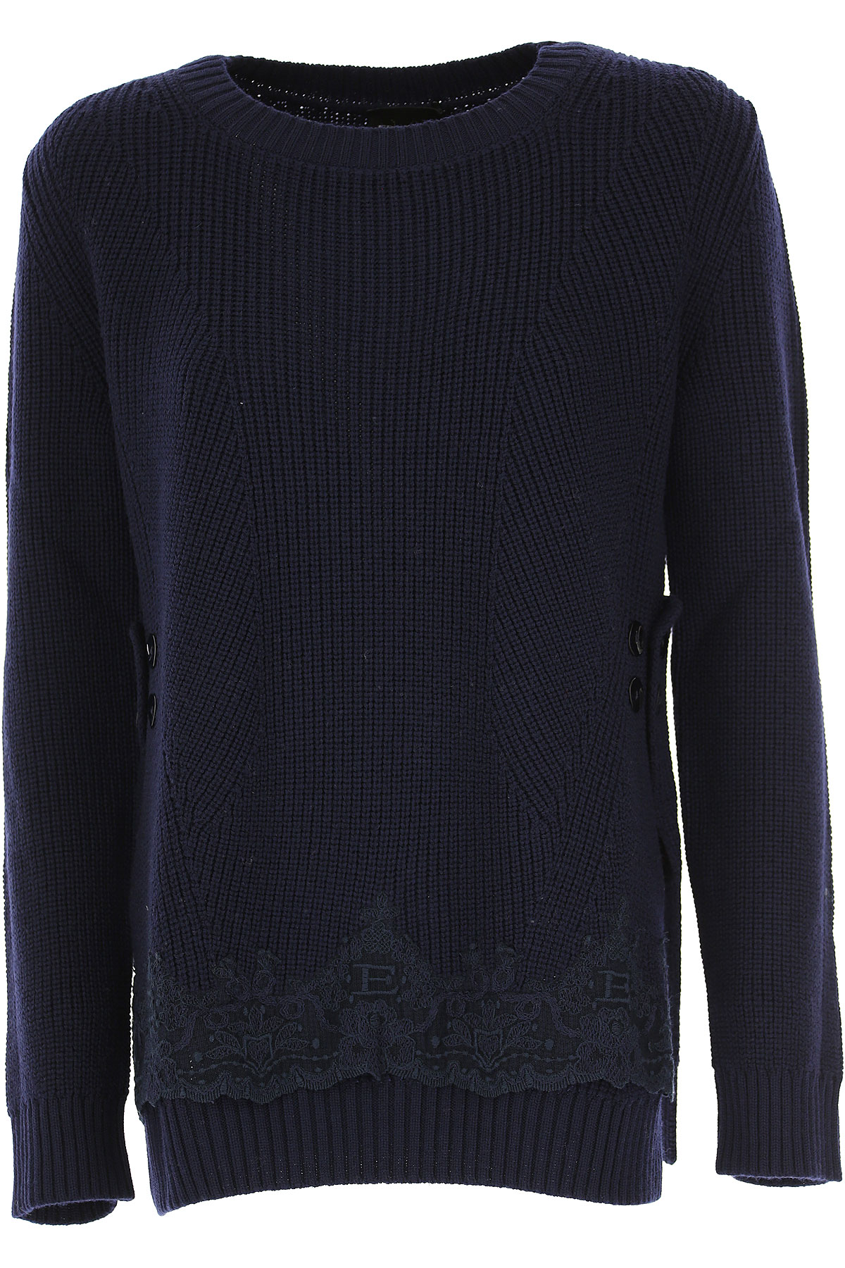 Ermanno Scervino Pull Femme, Bleu foncé, Polyester, 2017, 40 42 44