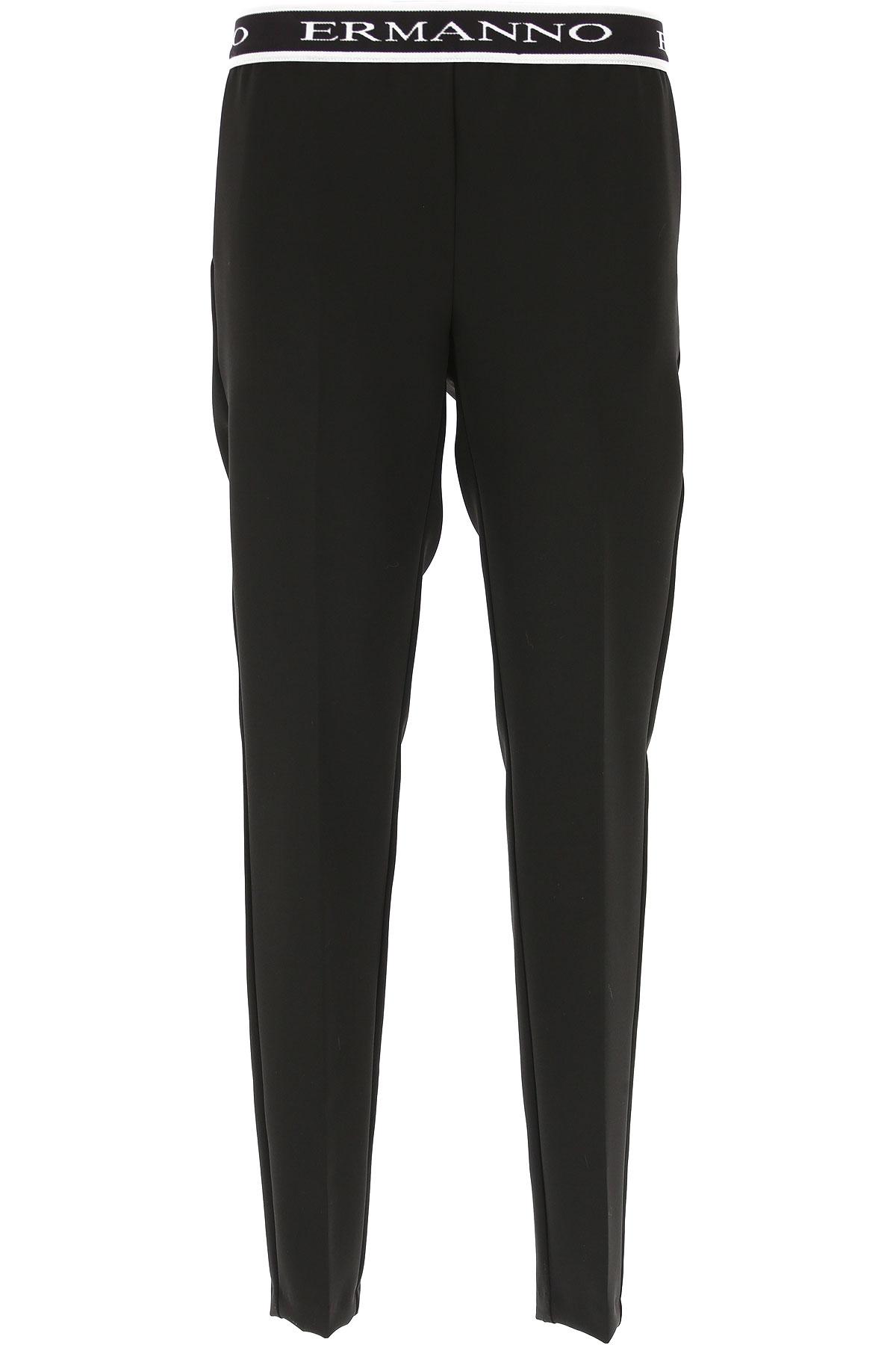 Image of Ermanno Scervino Pants for Women, Black, Elastane, 2017, 26 28 30