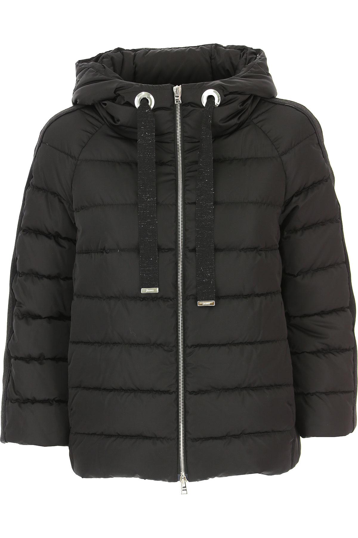 Image of Ermanno Scervino Down Jacket for Women, Puffer Ski Jacket, Black, Down, 2017, 6 8