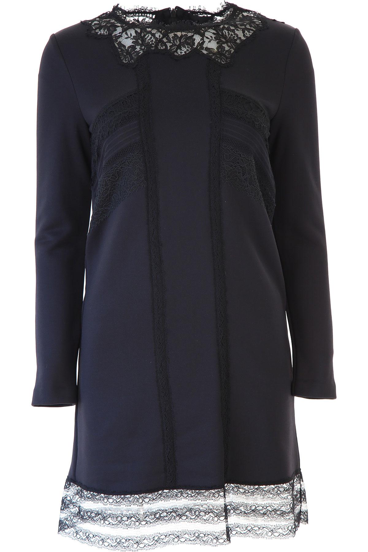 Ermanno Scervino Dress for Women, Evening Cocktail Party On Sale, Black, Viscose, 2019, 4 6
