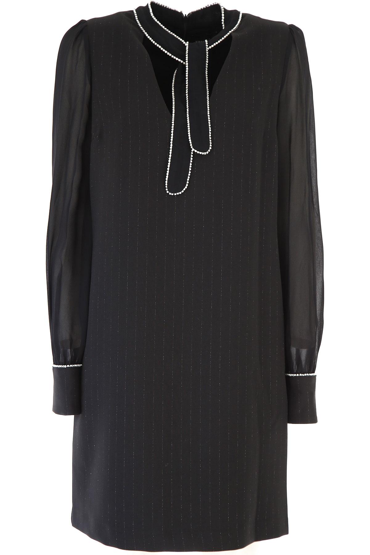 Ermanno Scervino Dress for Women, Evening Cocktail Party On Sale, Black, Viscose, 2019, 4 6 8