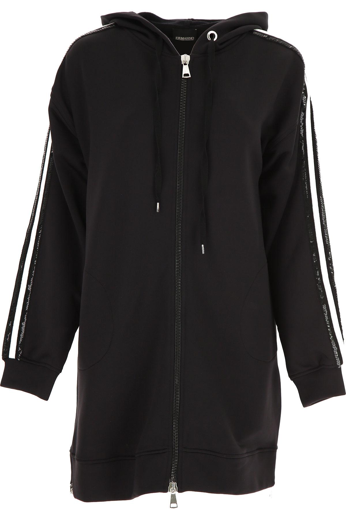 Ermanno Scervino Sweatshirt for Women On Sale, Black, polyester, 2019, 4 6 8