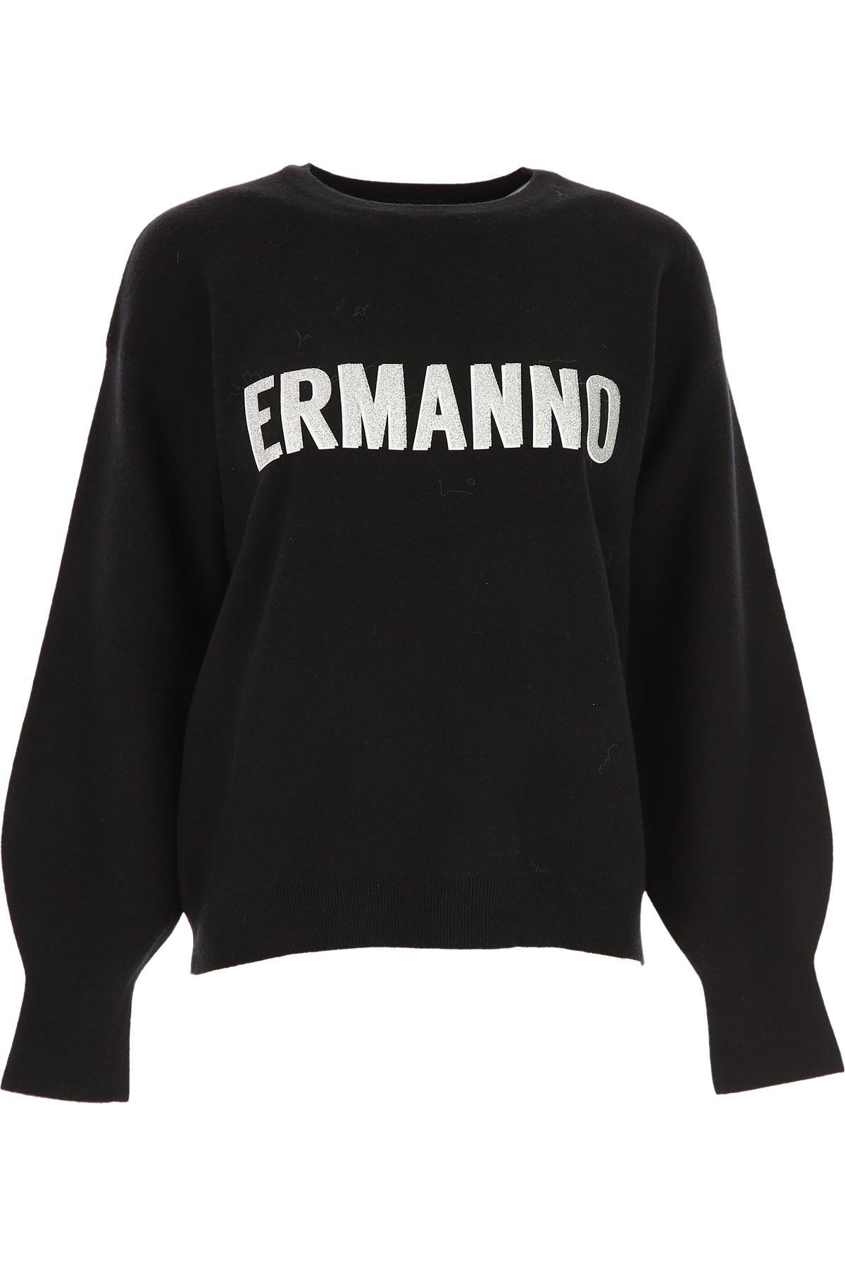Ermanno Scervino Sweater for Women Jumper On Sale, Black, Viscose, 2019, 4 6 8