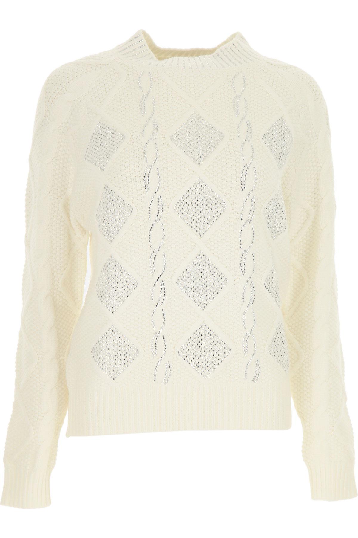Ermanno Scervino Sweater for Women Jumper On Sale, White, Viscose, 2019, 4 6 8