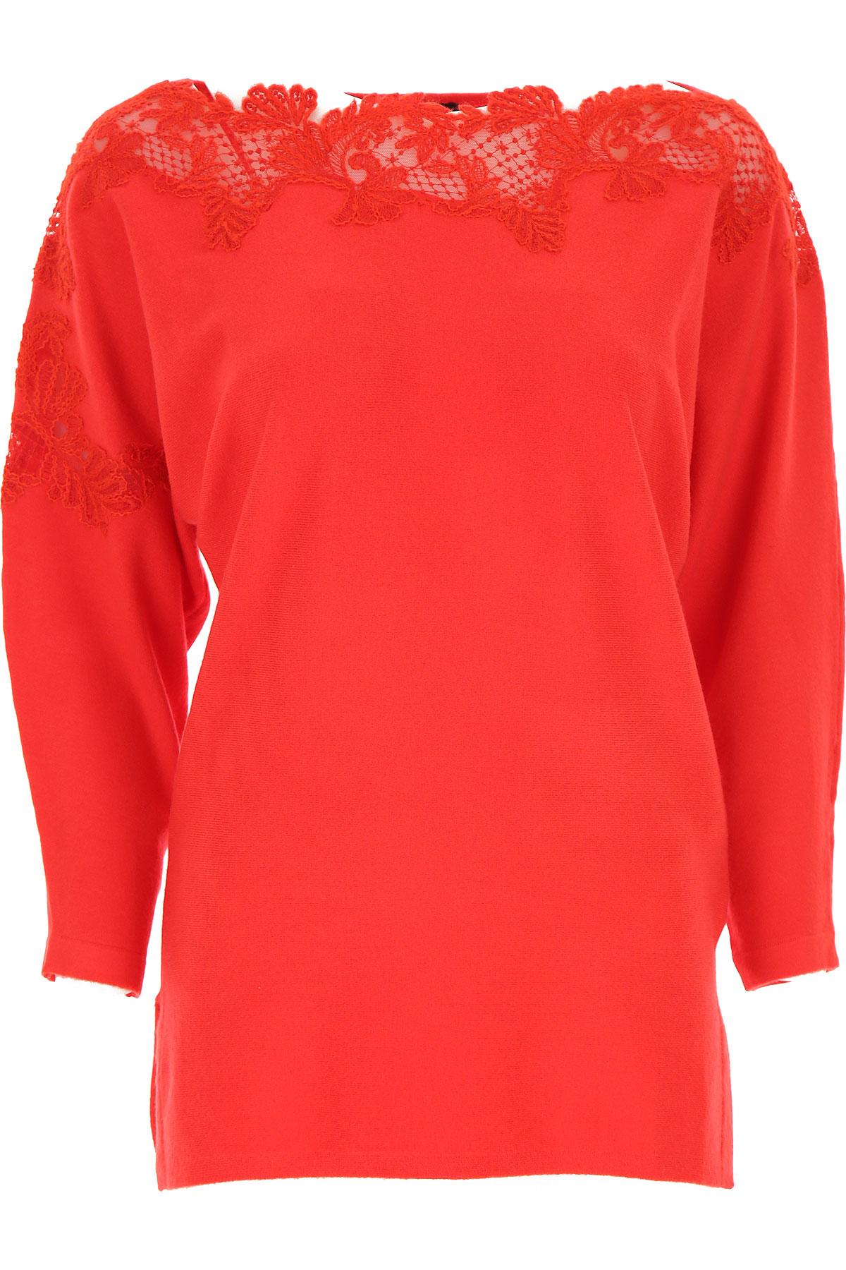 Ermanno Scervino Sweater for Women Jumper On Sale, Red, polyester, 2019, 4 6