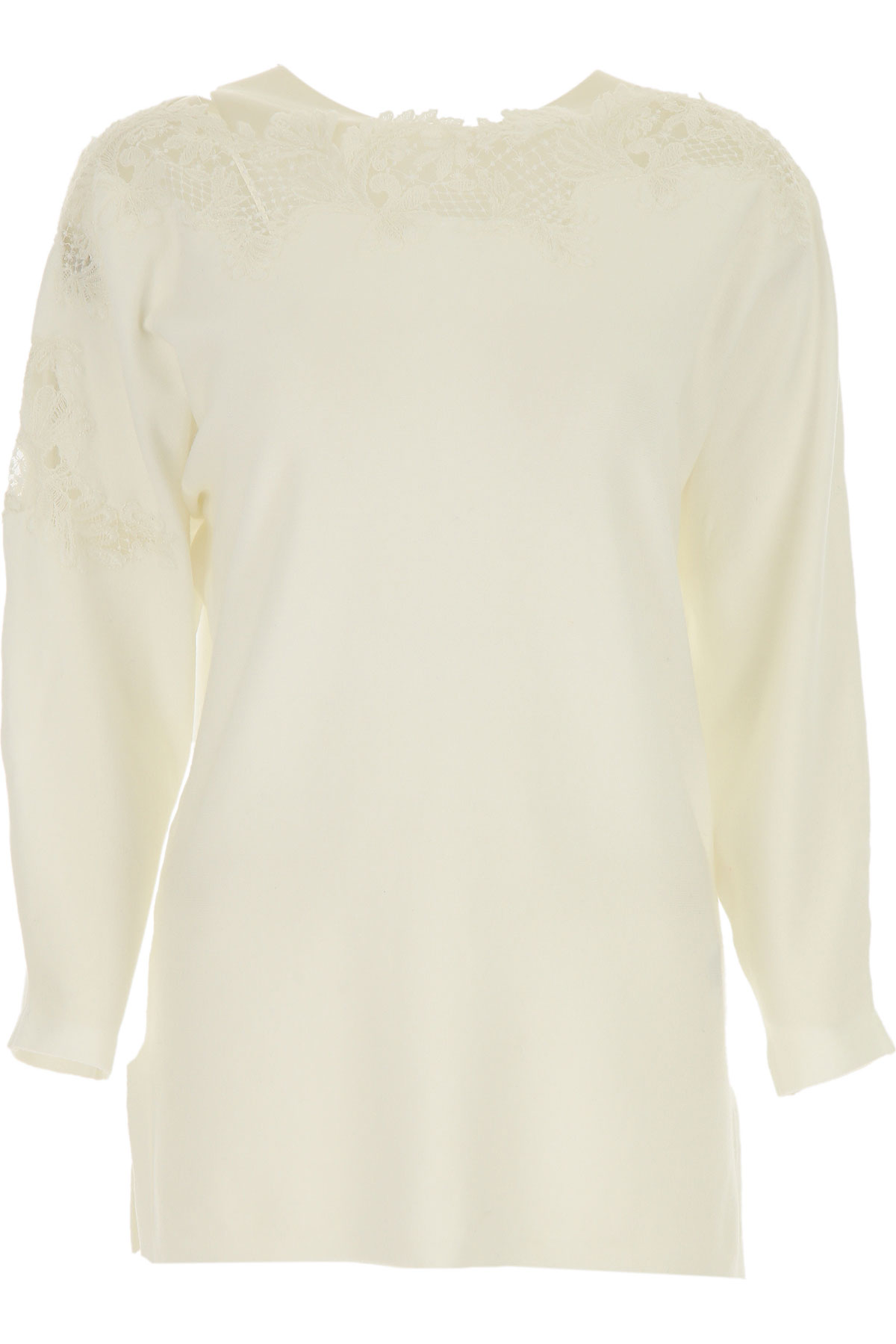 Ermanno Scervino Sweater for Women Jumper On Sale, White, polyester, 2019, 4 6