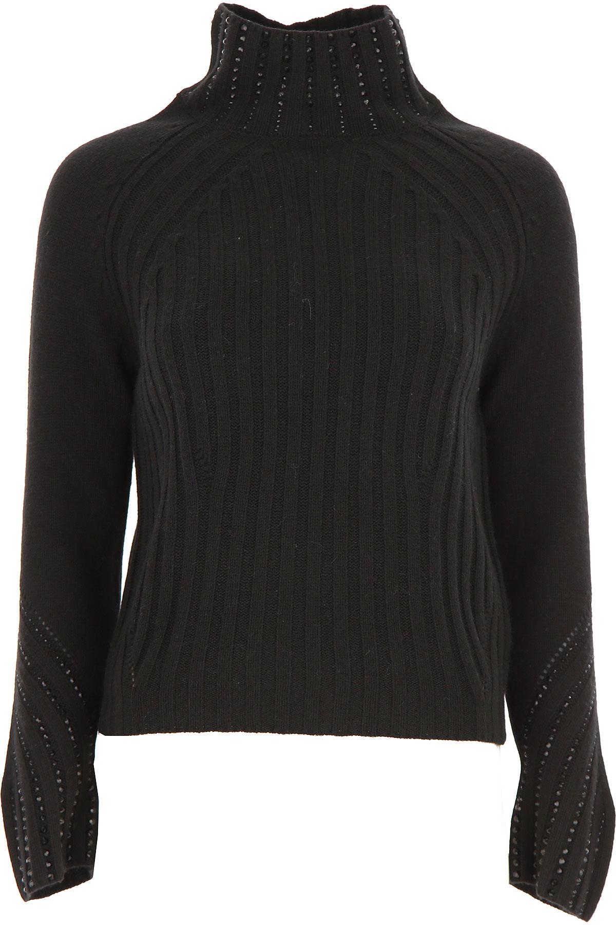 Ermanno Scervino Sweater for Women Jumper On Sale, Black, Viscose, 2019, 4 8