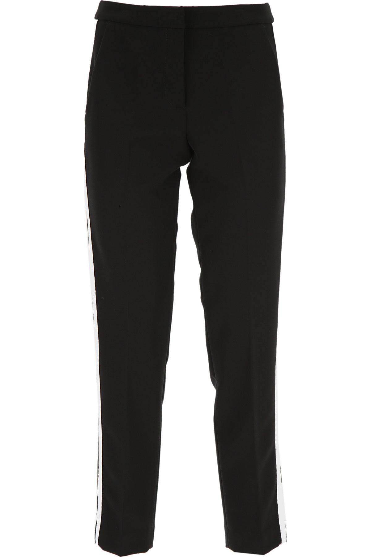 Ermanno Scervino Pants for Women On Sale, Black, polyester, 2019, 4 6 8