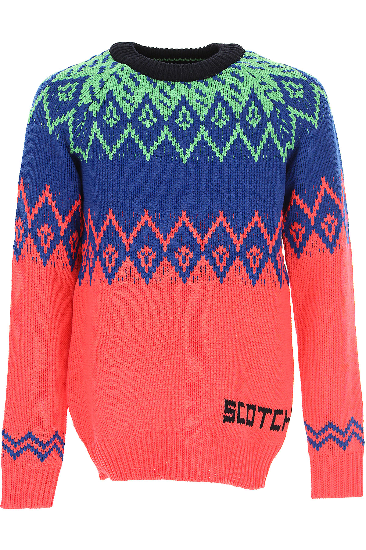 Scotch & Soda Sweater for Men Jumper On Sale, Bluette, Acrylic, 2019, L M XL