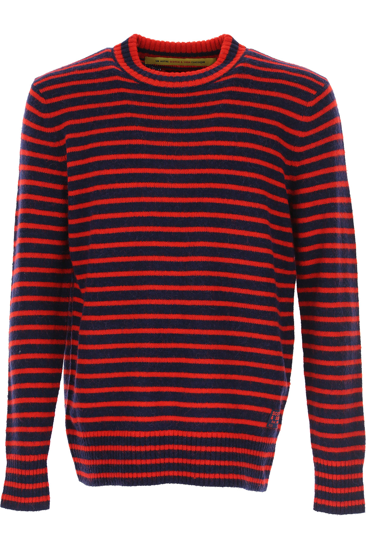 Scotch & Soda Sweater for Men Jumper On Sale, Red, Acrylic, 2019, L M S XL