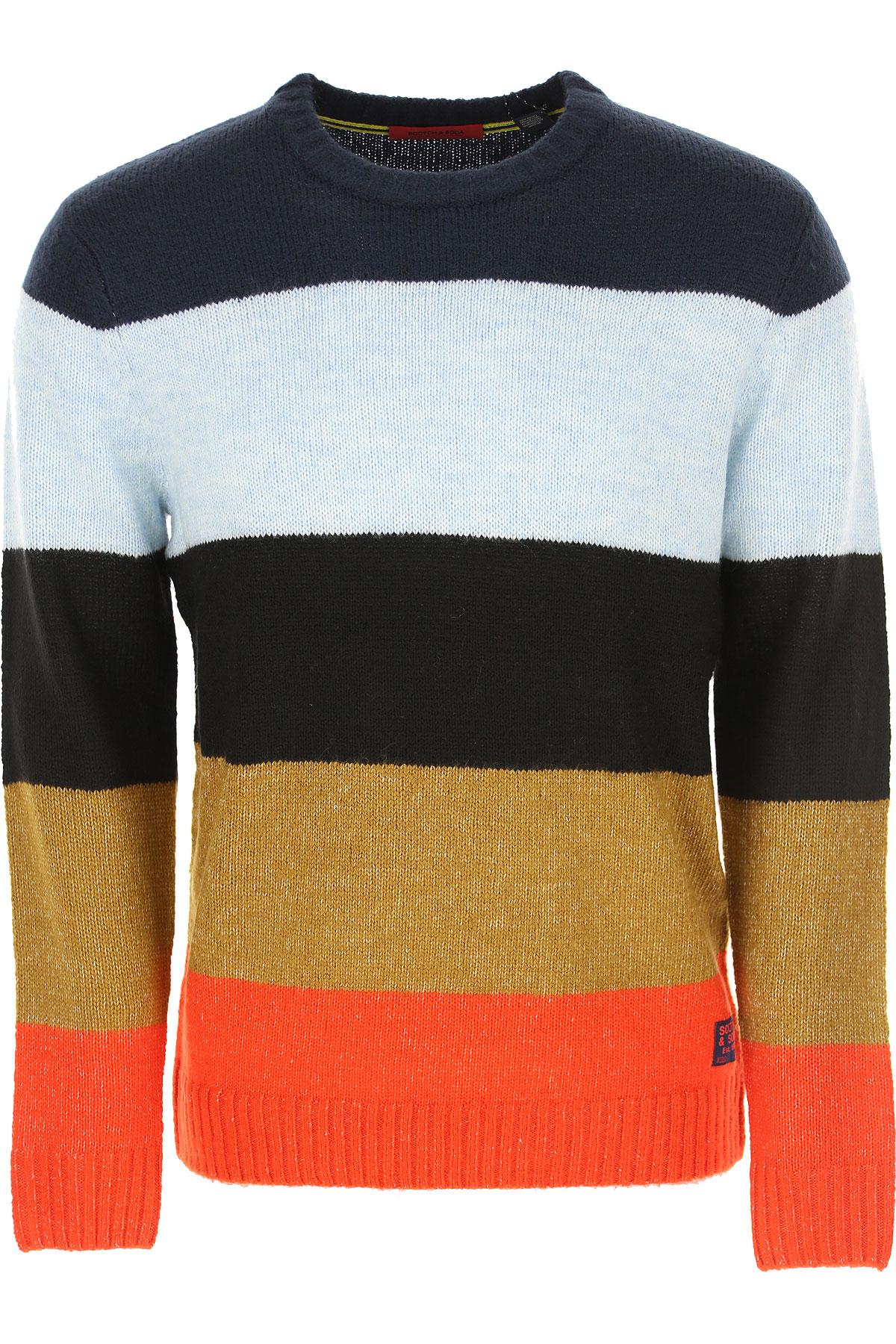 Scotch & Soda Sweater for Men Jumper On Sale, Dark Blue, Acrylic, 2019, M S XL