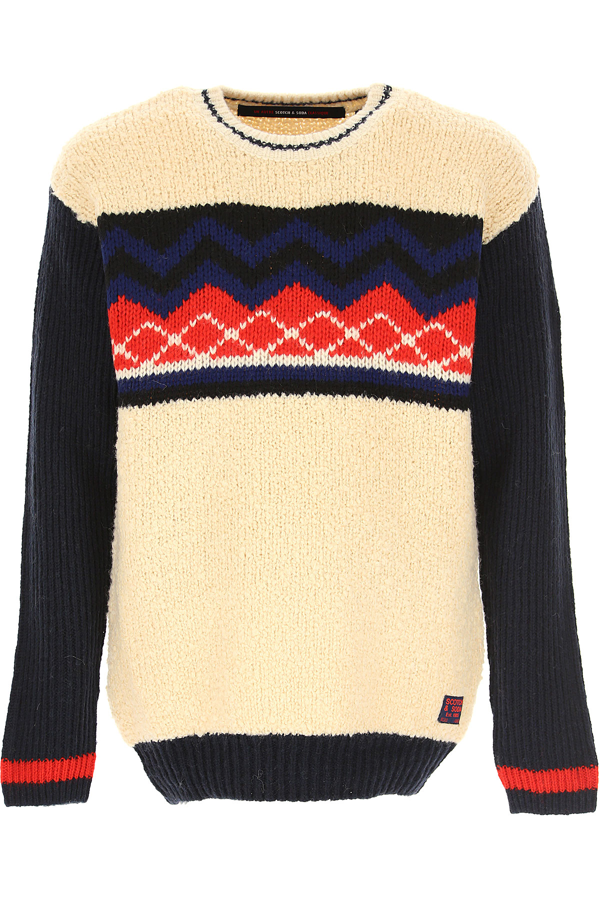 Scotch & Soda Sweater for Men Jumper On Sale, Ivory, Acrylic, 2019, L M S XL