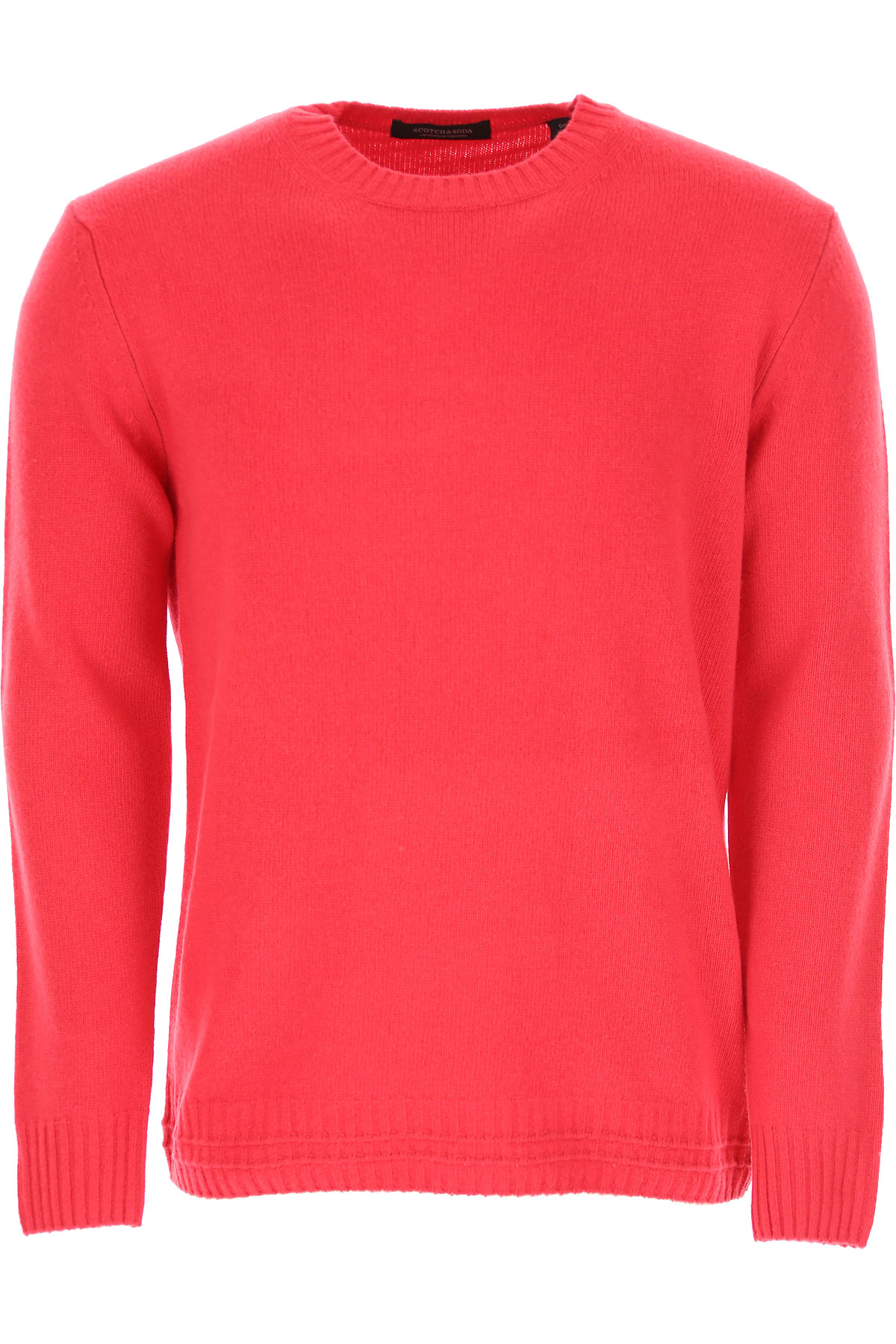 Scotch & Soda Sweater for Men Jumper On Sale, coral red, Wool, 2019, L M S