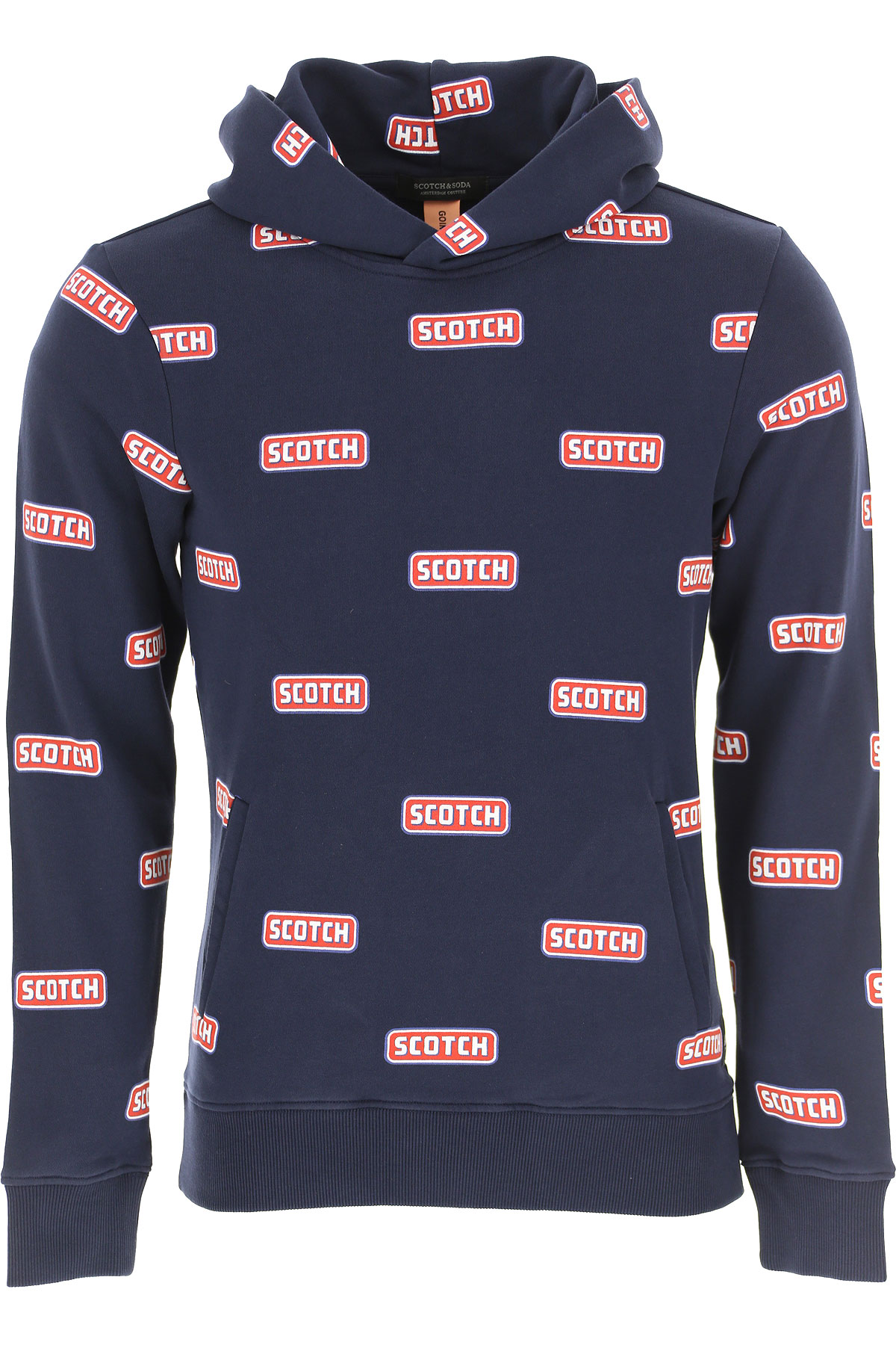 Scotch & Soda Sweatshirt for Men On Sale, Dark Blue, Cotton, 2019, L M S XL