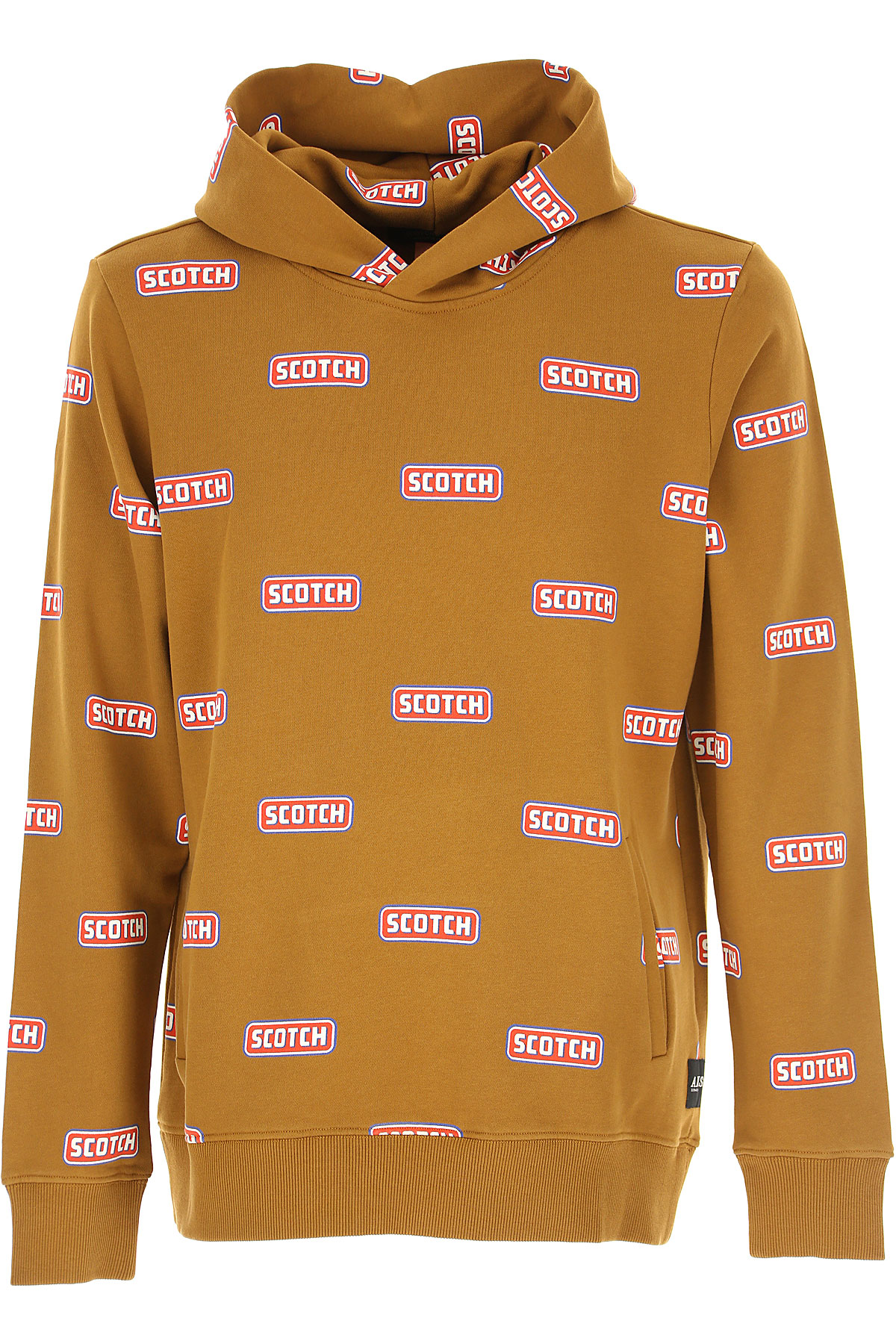 Scotch & Soda Sweatshirt for Men On Sale, Brown, Cotton, 2019, L M S XL