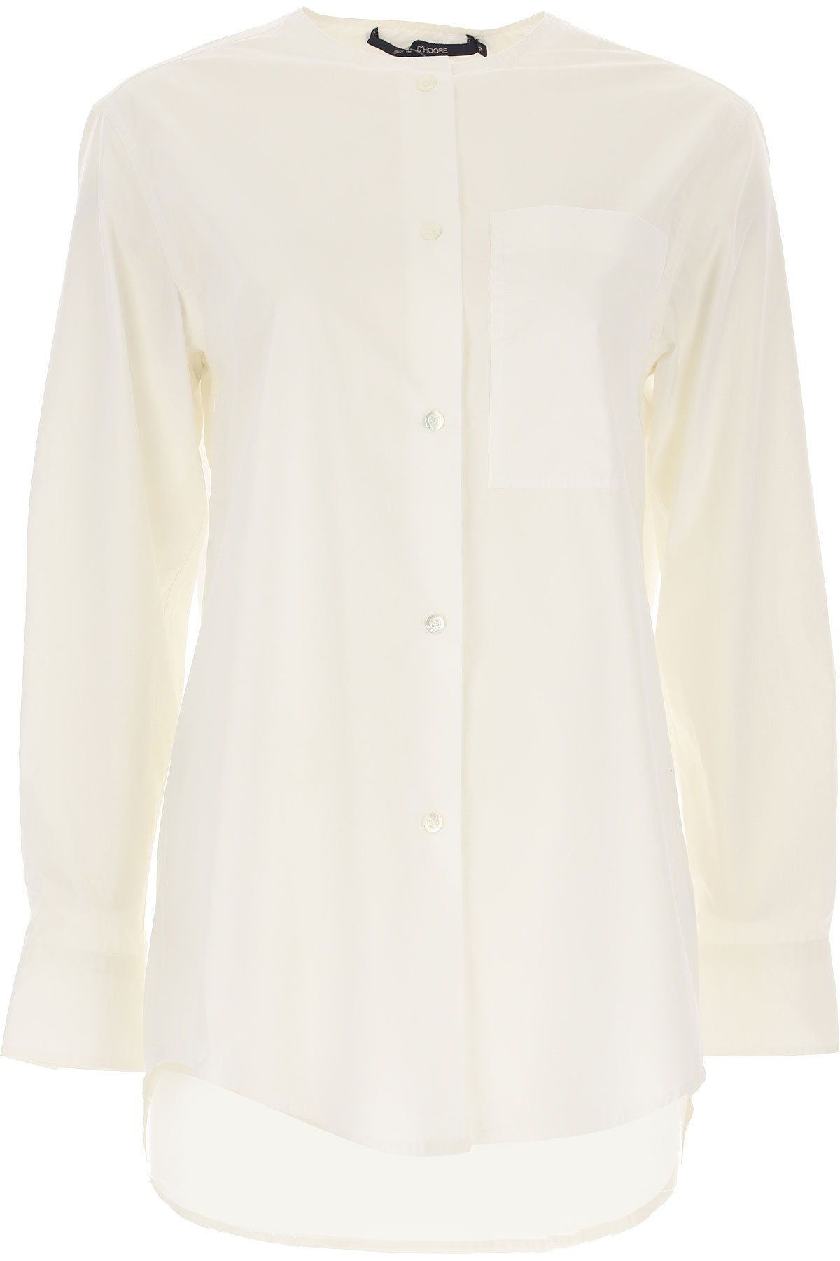 Sofie dHoore Top for Women On Sale, White, Cotton, 2019, 4