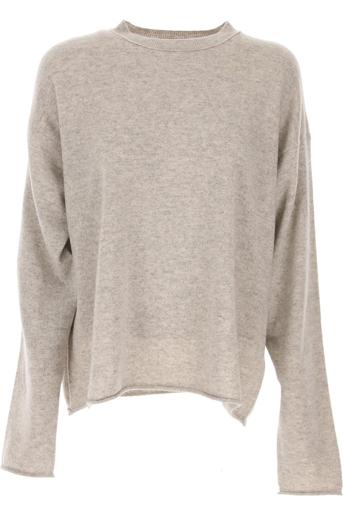 Sofie dHoore Sweater for Women Jumper On Sale, Silver Melange, Cashemere, 2019, 4 6