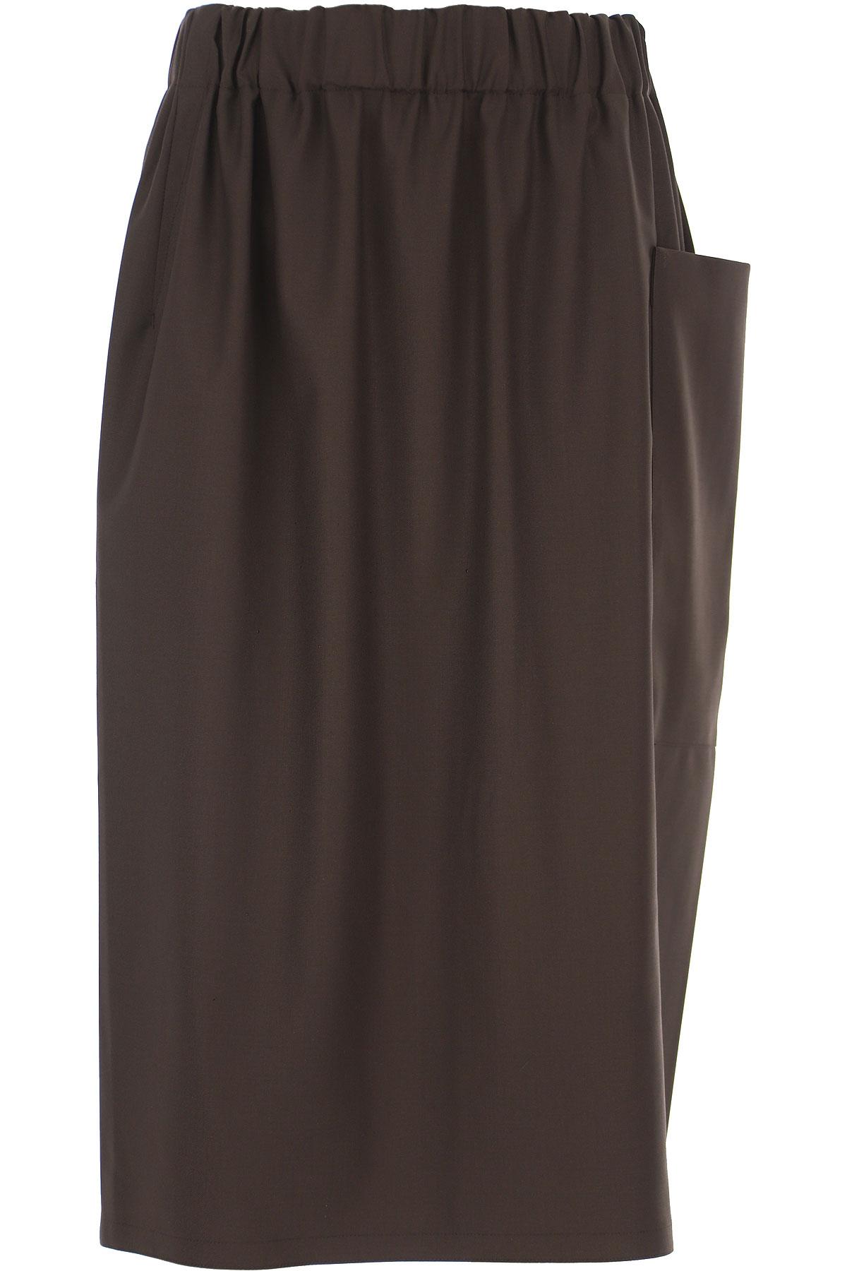 Sofie dHoore Skirt for Women On Sale, Chocolate, Wool, 2019, FR 36 • IT 40 FR 38 • IT 42 FR 40 • IT 44