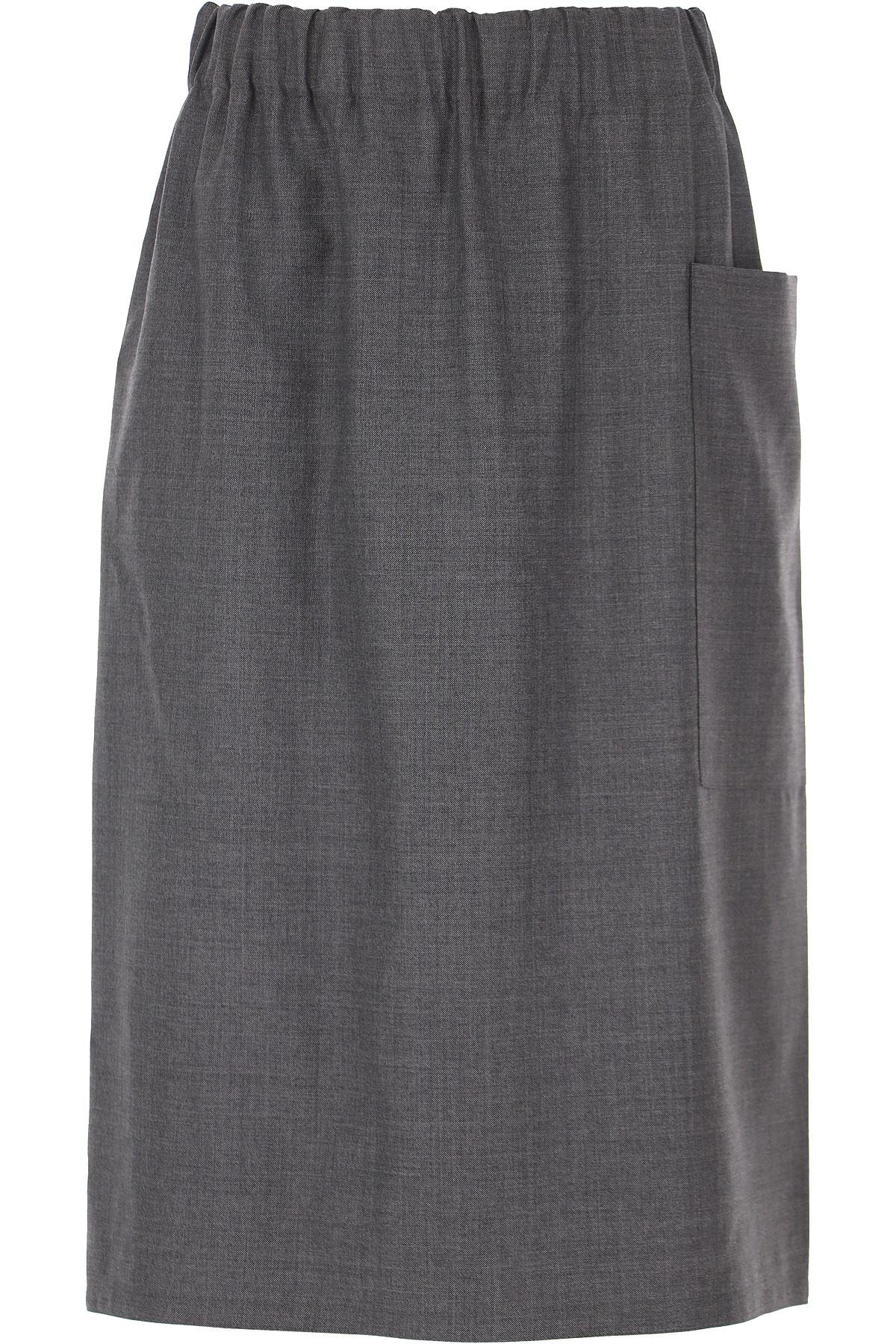 Sofie dHoore Skirt for Women On Sale, Grey, Wool, 2019, FR 36 • IT 40 FR 38 • IT 42 FR 40 • IT 44