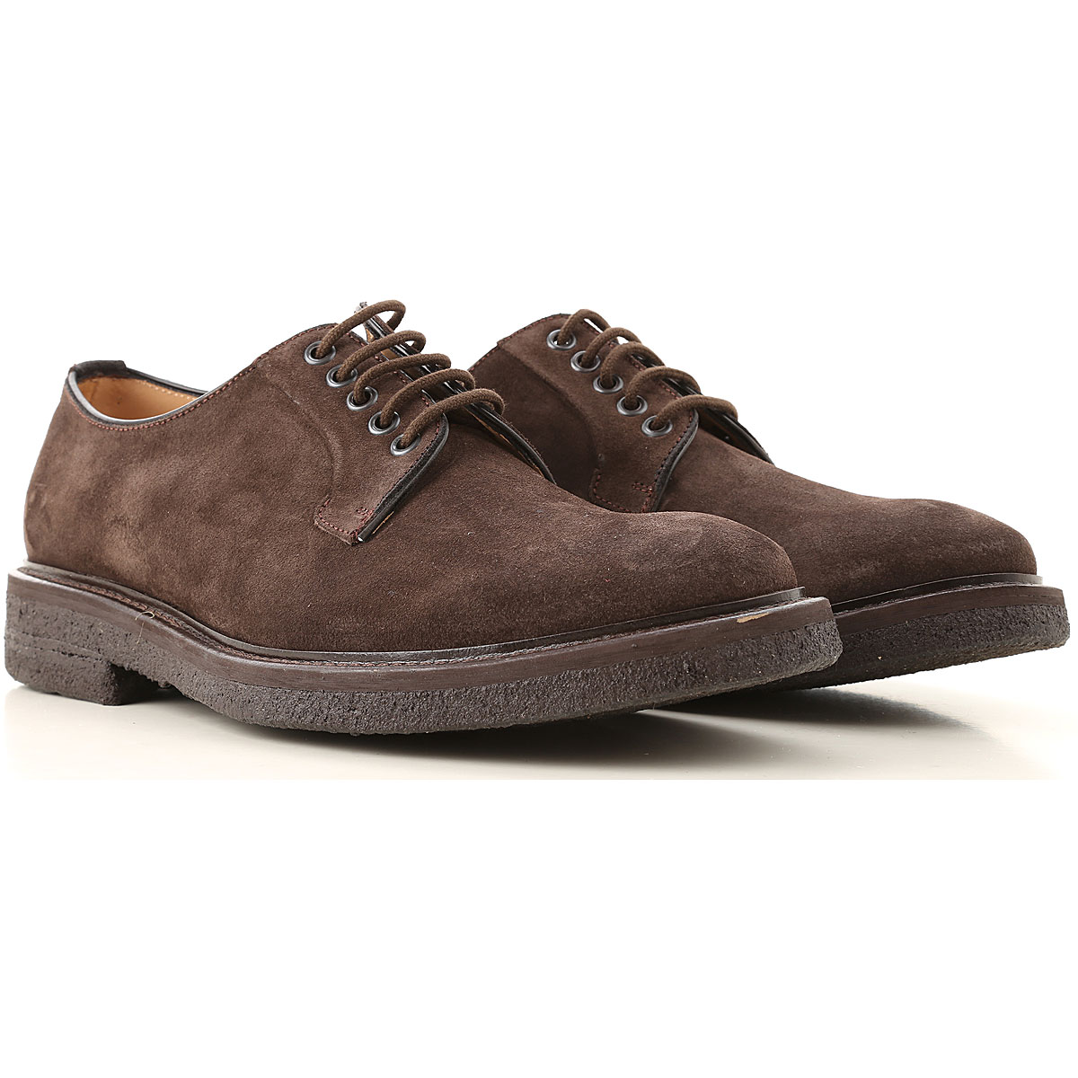 Seboys Lace Up Shoes for Men Oxfords, Derbies and Brogues On Sale, Dark Brown, Suede leather, 2019, 10 10.25 7 7.5 7.75 8 9.5
