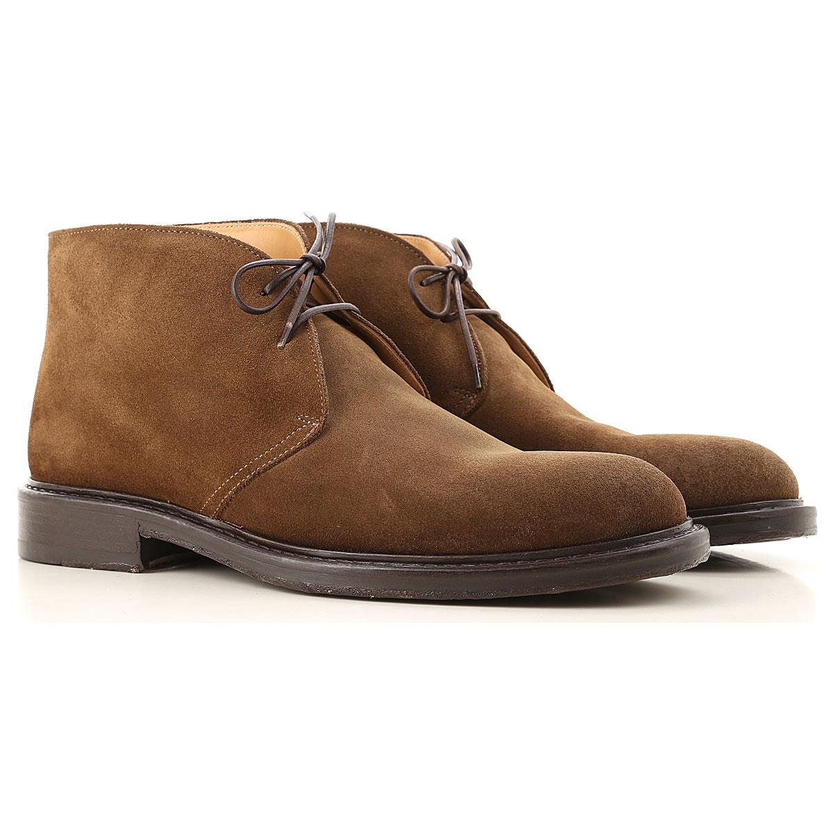 Seboys Desert Boots Chukka for Men On Sale, Cigar, Leather, 2019, 10 10.25 7 8 8.5 9