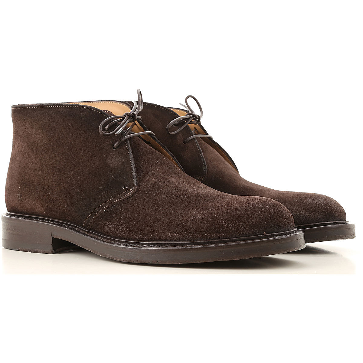 Seboys Desert Boots Chukka for Men On Sale, Dark Brown, Suede leather, 2019, 7 7.5 7.75 8 8.5 9 9.5