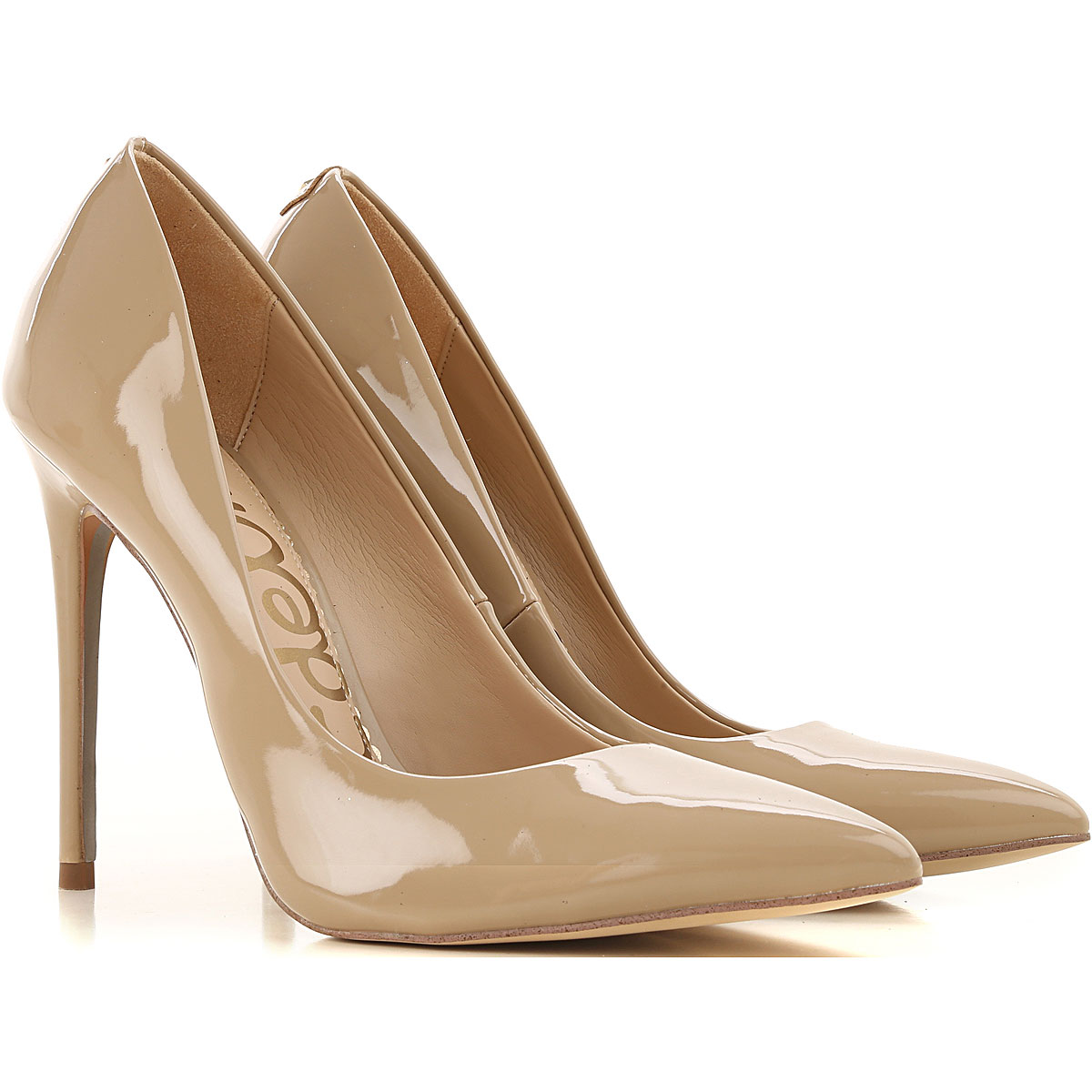 Sam Edelman Pumps & High Heels for Women On Sale, Nude, Patent Leather, 2019, 10 8 9.5