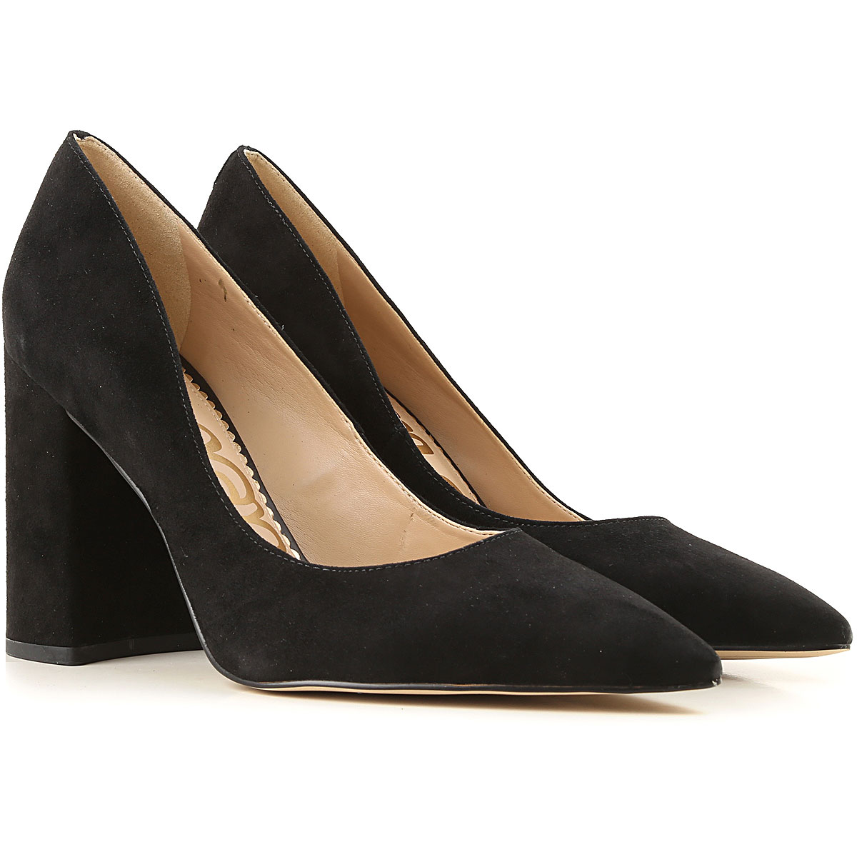 Sam Edelman Pumps & High Heels for Women On Sale, Black, Suede leather, 2019, 6 9.5