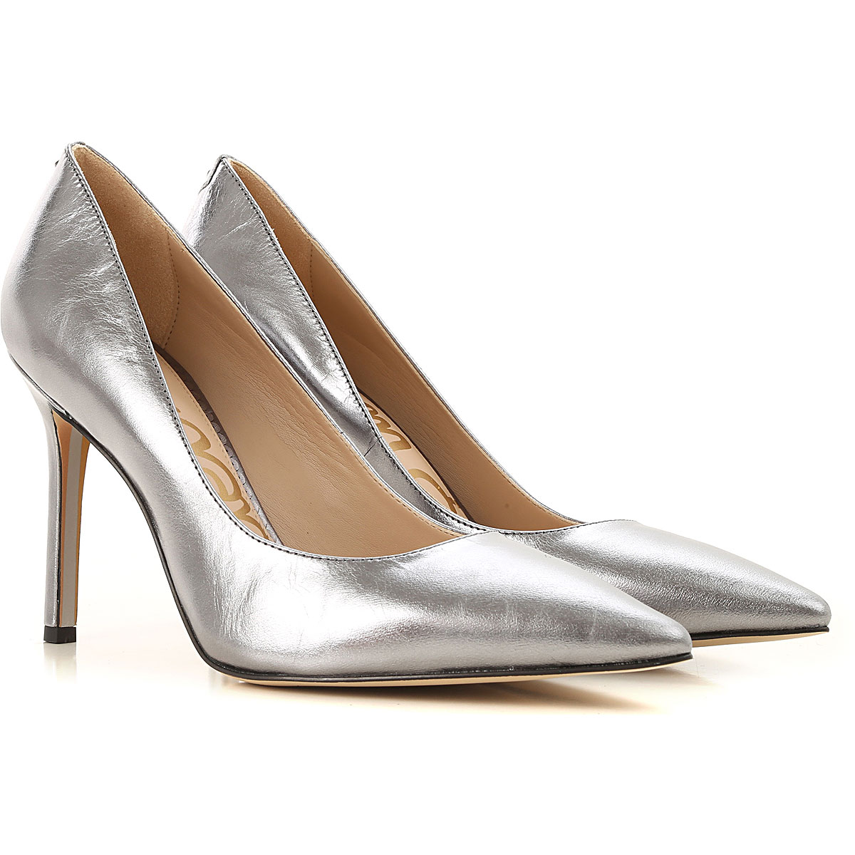 Sam Edelman Pumps & High Heels for Women On Sale, Metallic Anthracite, Leather, 2019, 10 8.5 9