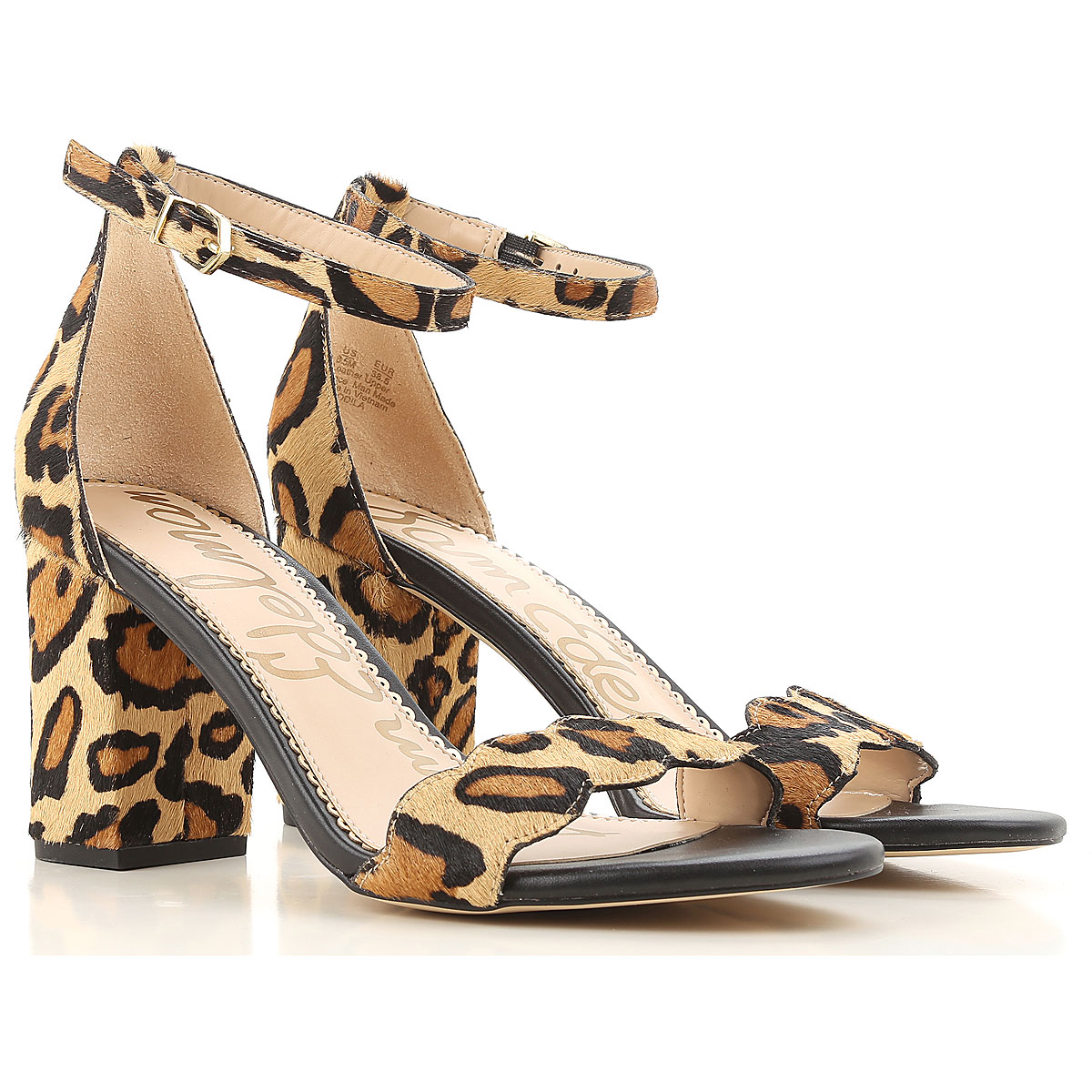 Image of Sam Edelman Sandals for Women On Sale, Leopard, Fur, 2017, 7 9.5