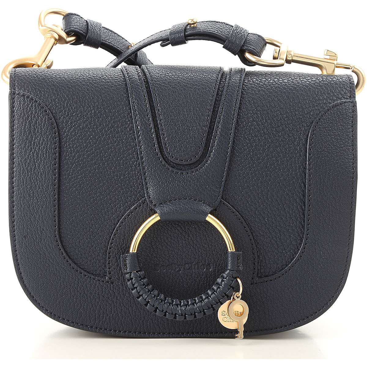Image of See By Chloe Shoulder Bag for Women, Midnight, Leather, 2017