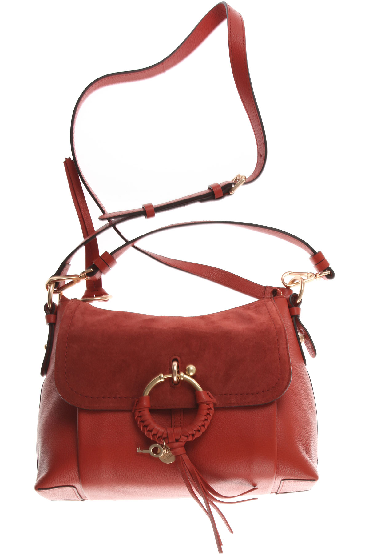 Image of See By Chloe Top Handle Handbag, Red Sand, Leather, 2017